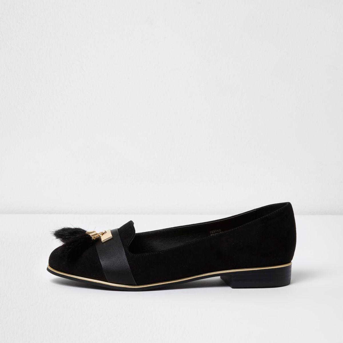 Wide Fit Black Lace Up Shoes