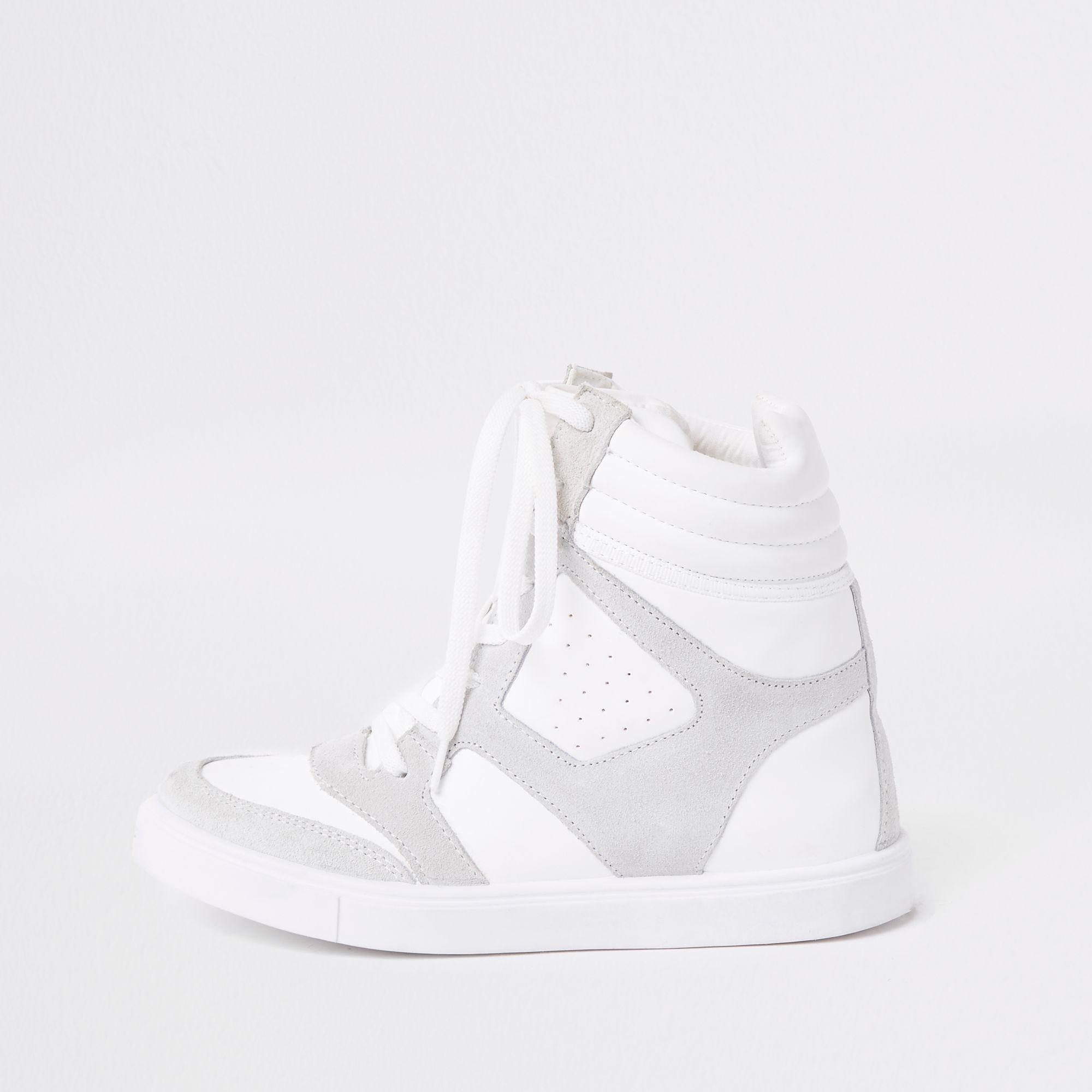 river island high top trainers