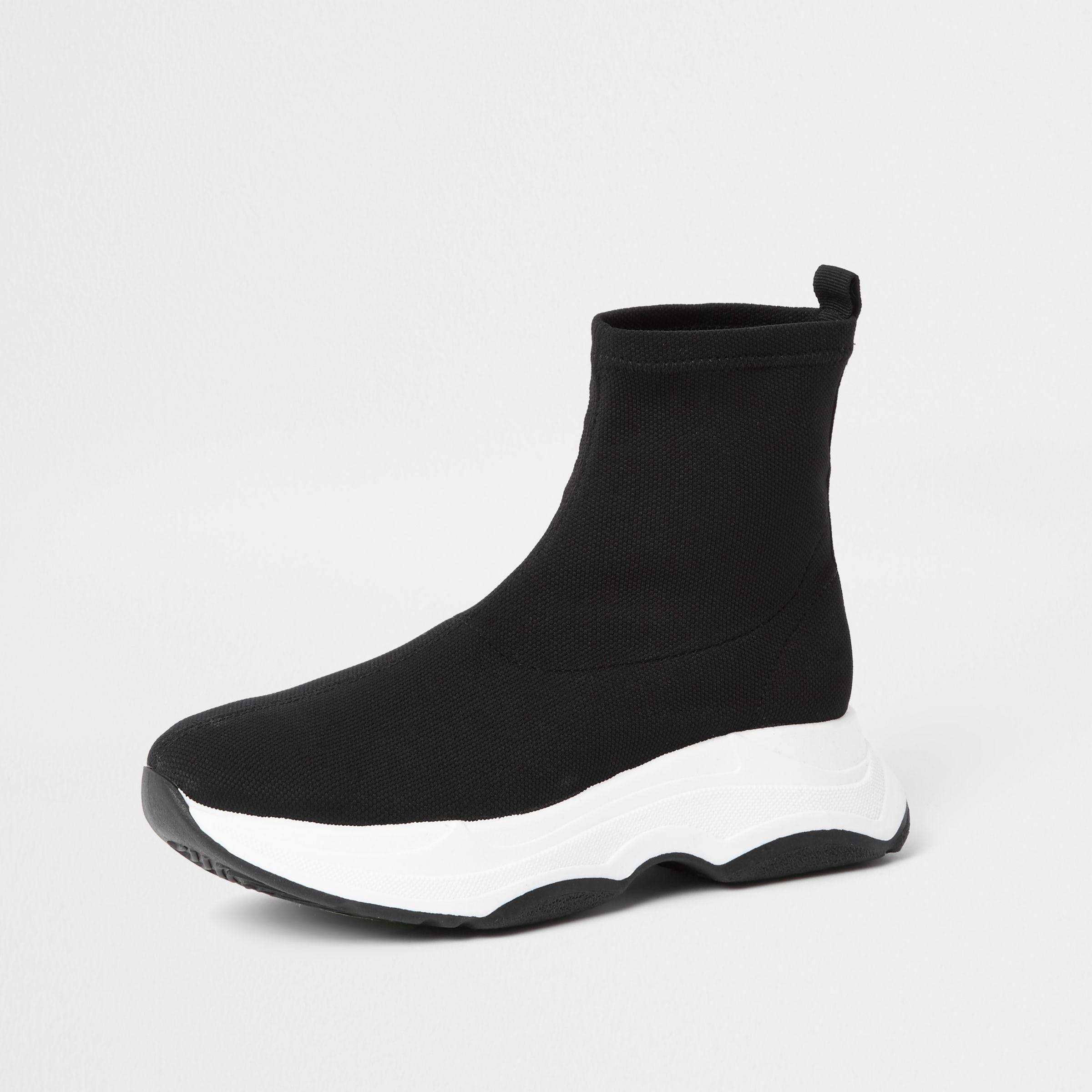 River Island Black Knitted Sock Runner