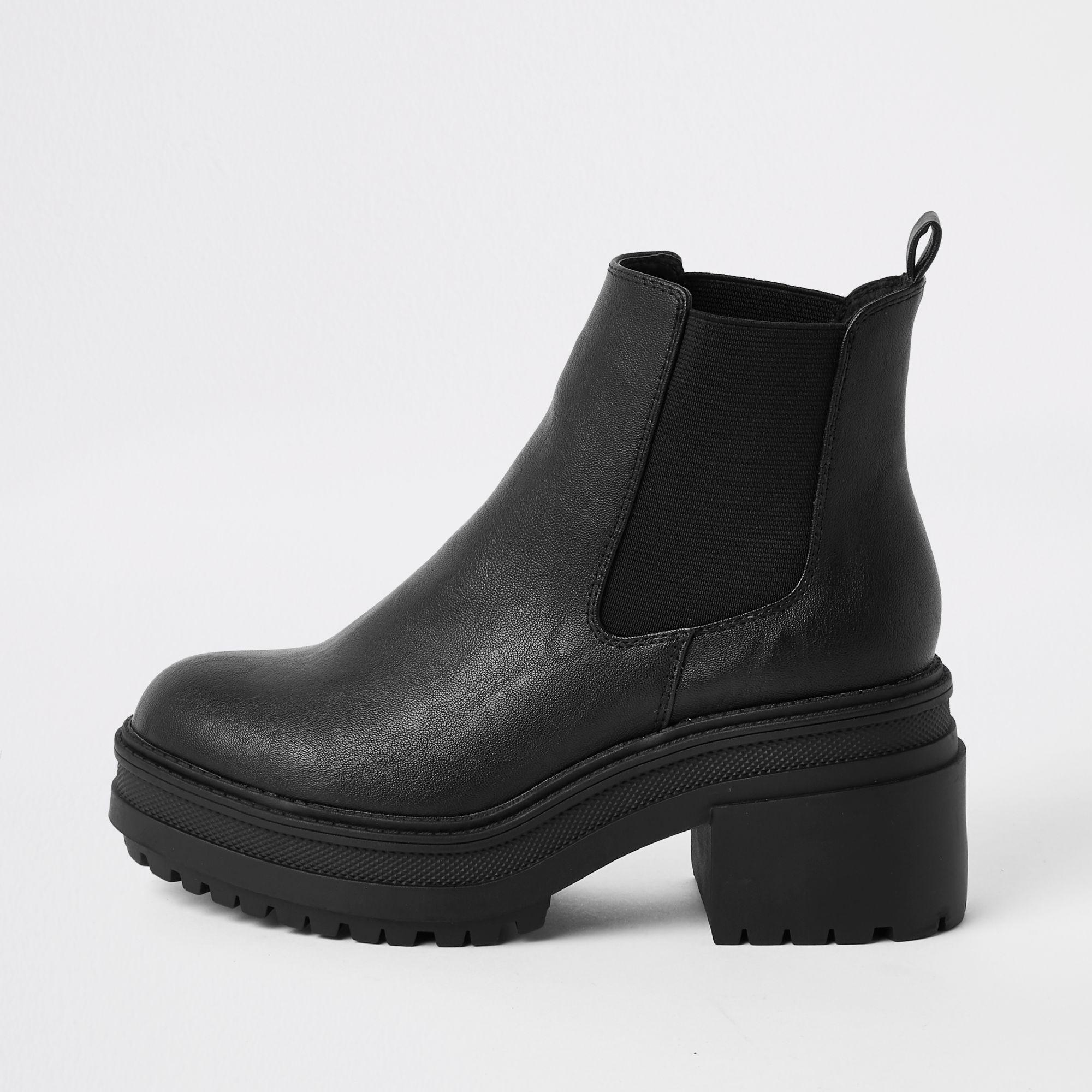 River Island Chunky Chelsea Boots in
