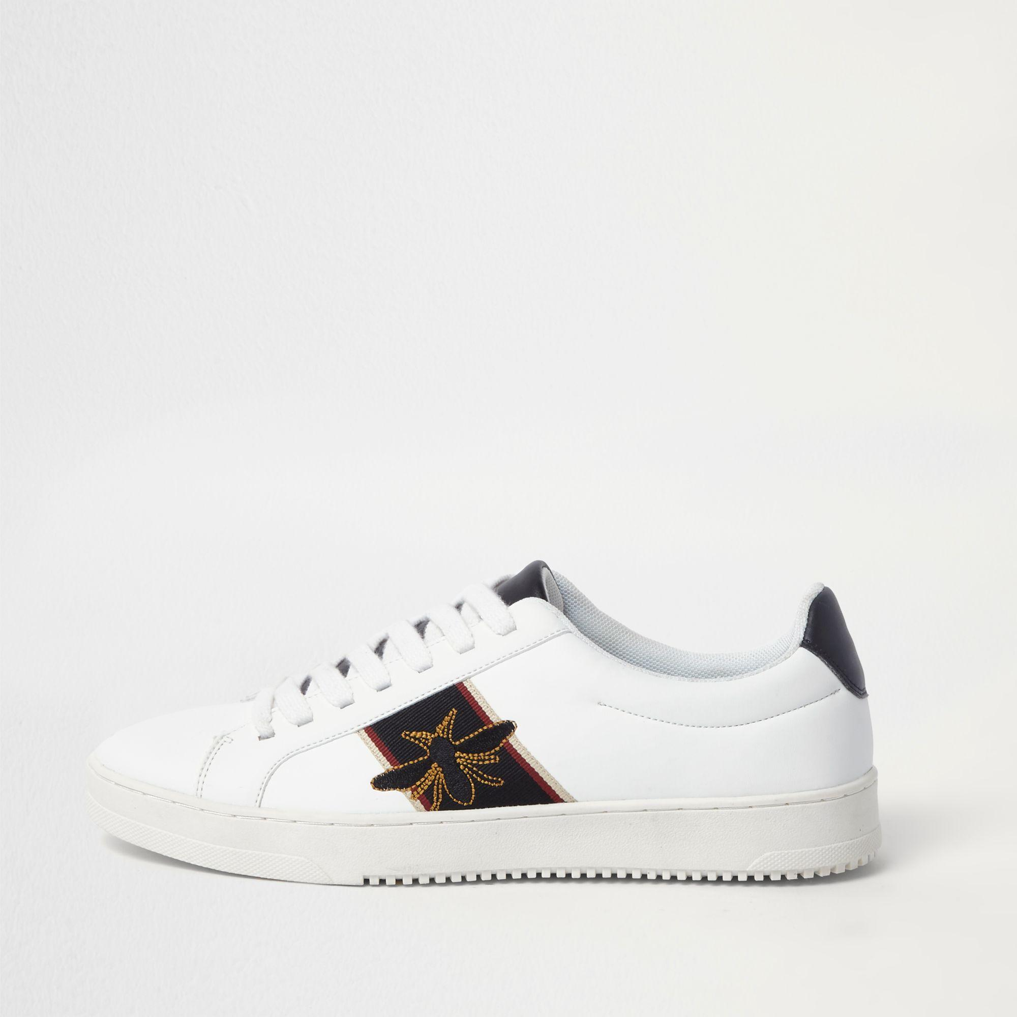 Wasp Embroidered Trainers