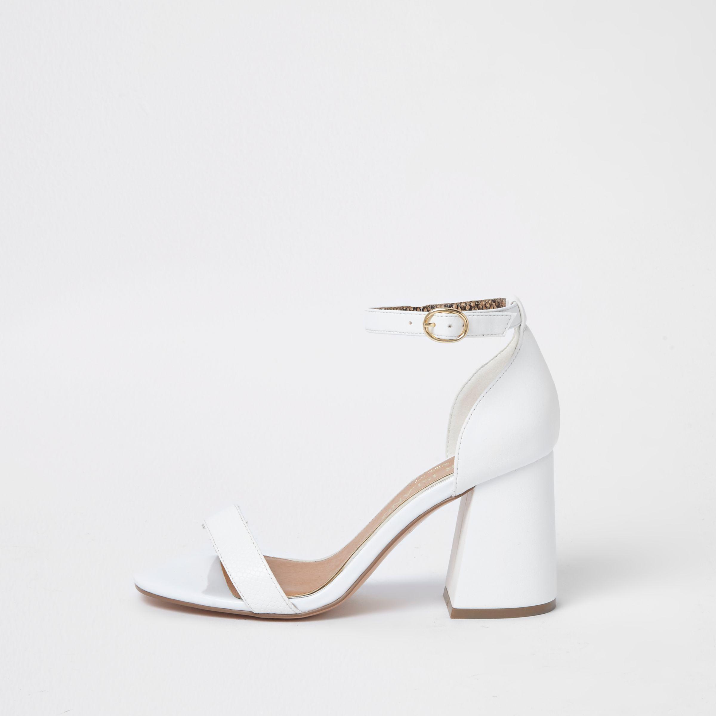 Wide Fit Block Heel Buckle Sandals - Lyst