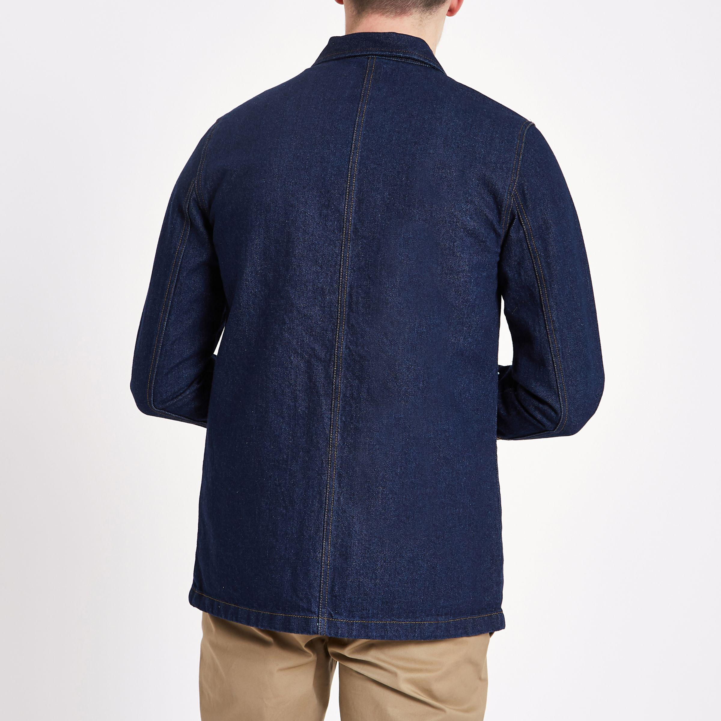 Discount 100% Original Buy Cheap How Much River Island Mens Only and Sons dark Blue denim overshirt Only & Sons Cheap Sale Recommend Discount Low Shipping Fee Extremely CRKqQ6