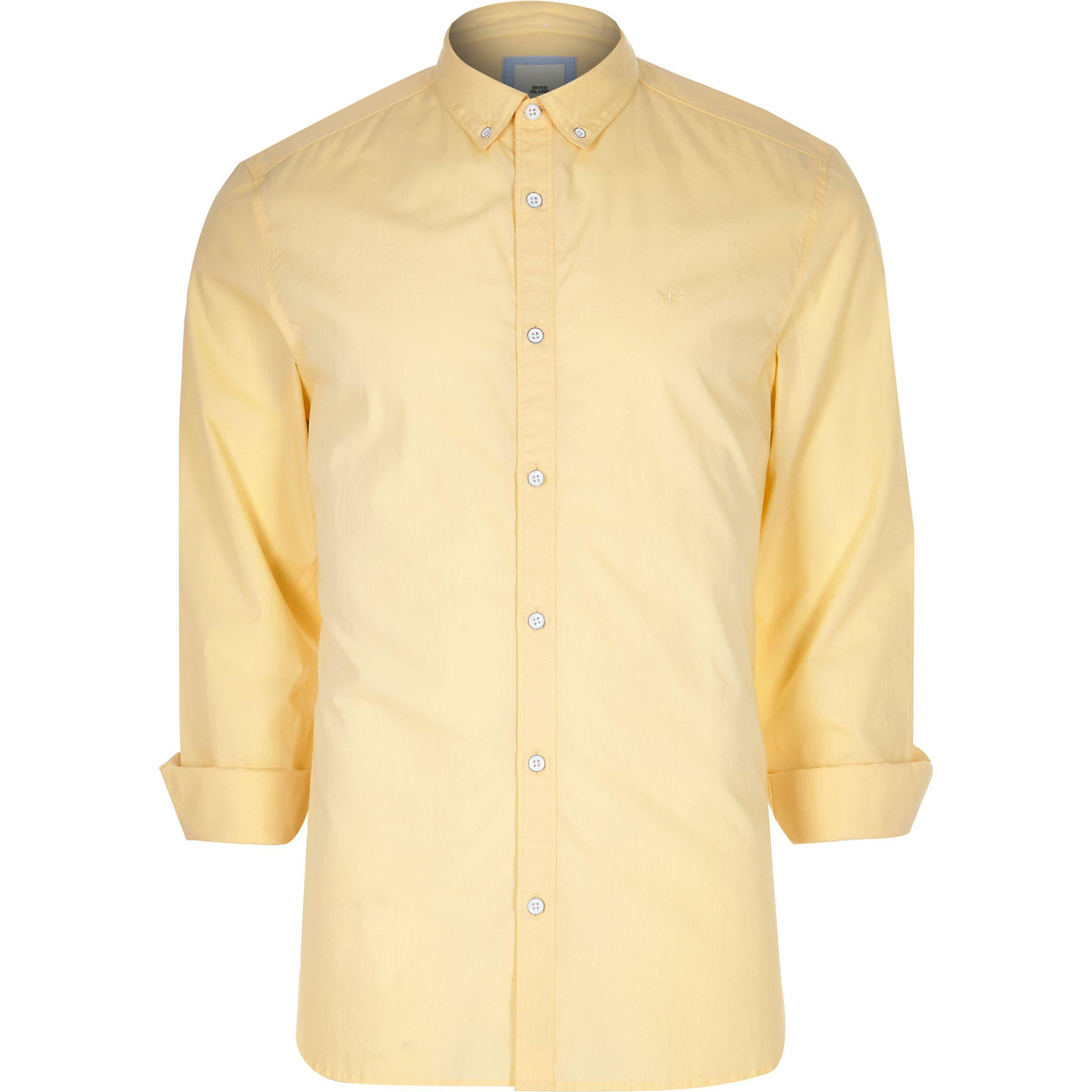 Good Selling Cheap Visit Mens White poplin slim fit rolled sleeve shirt River Island pKzkX