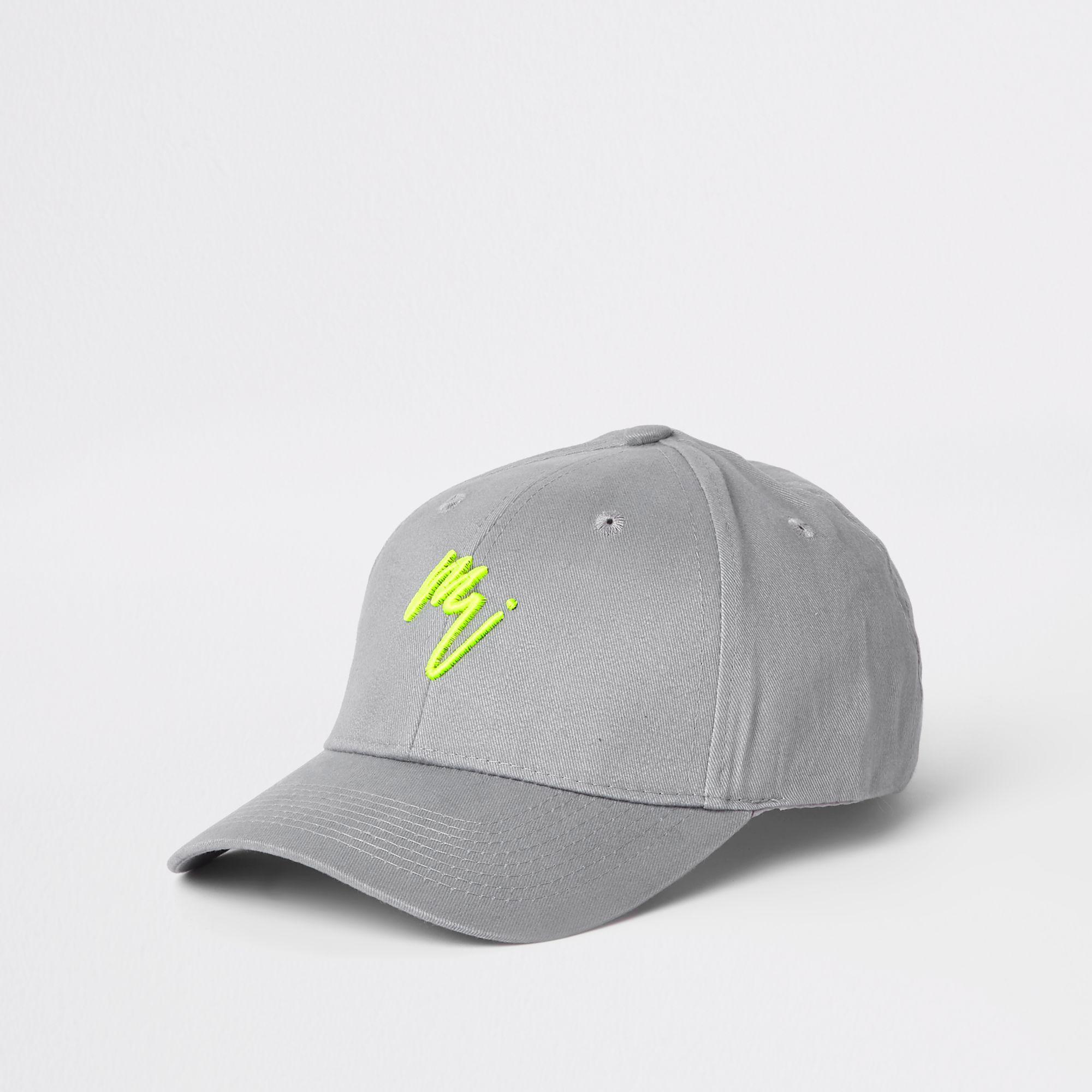 7addffe4690067 River Island 'maison Riviera' Neon Baseball Cap in Gray for Men - Lyst