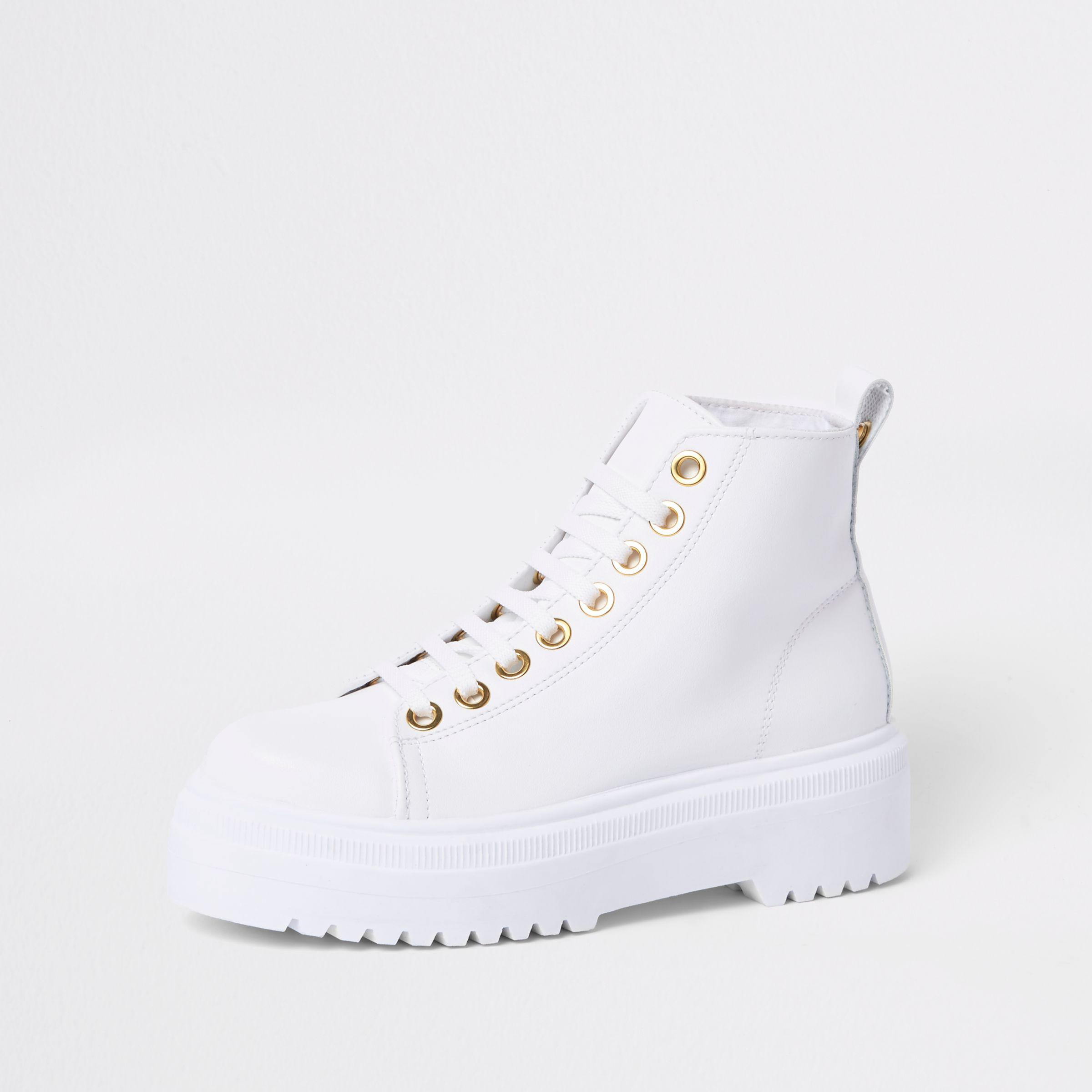 River Island White Chunky Digger Lace