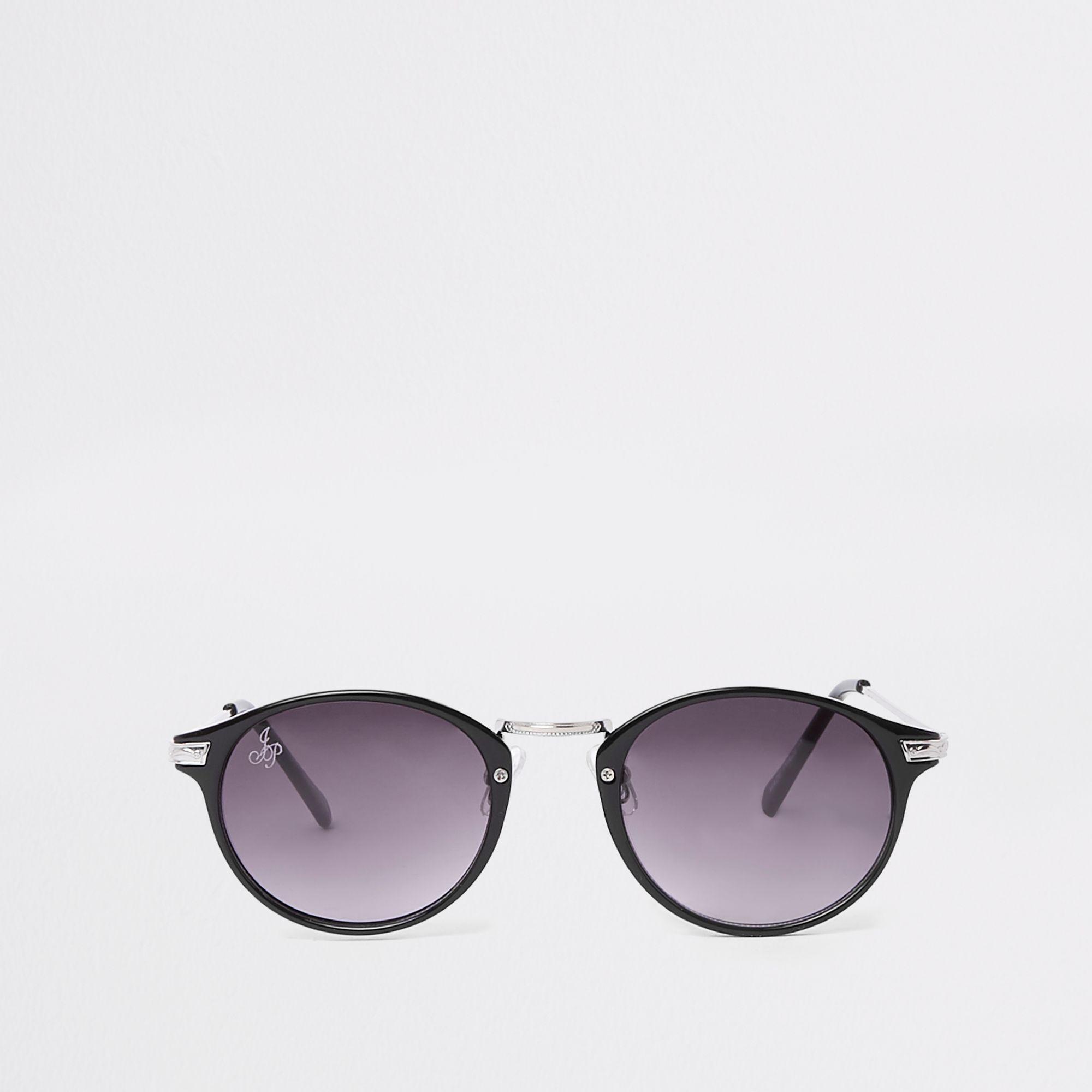 1e1f1f3e0fa9 River Island Jeepers Peepers Round Sunglasses in Black for Men - Lyst