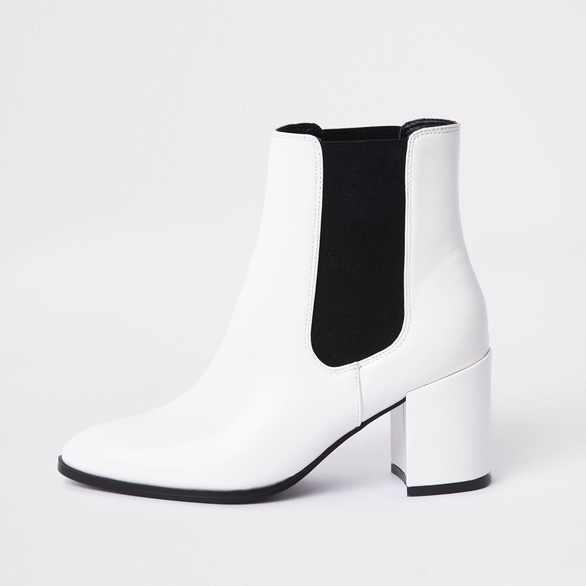 River Island Block Heel Ankle Boots in