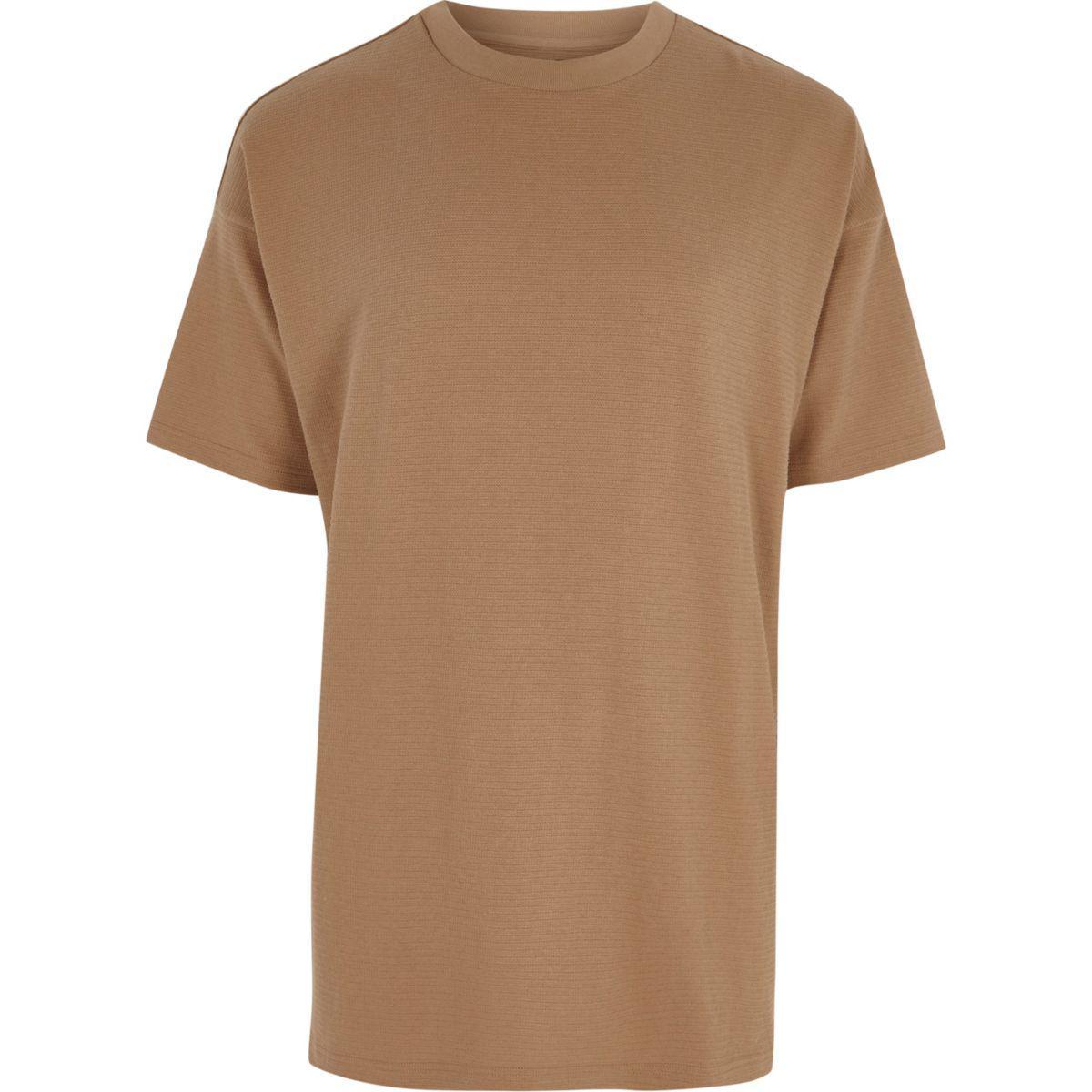 8bec8935a0b Men's Light Brown Short Sleeve Oversized T-shirt