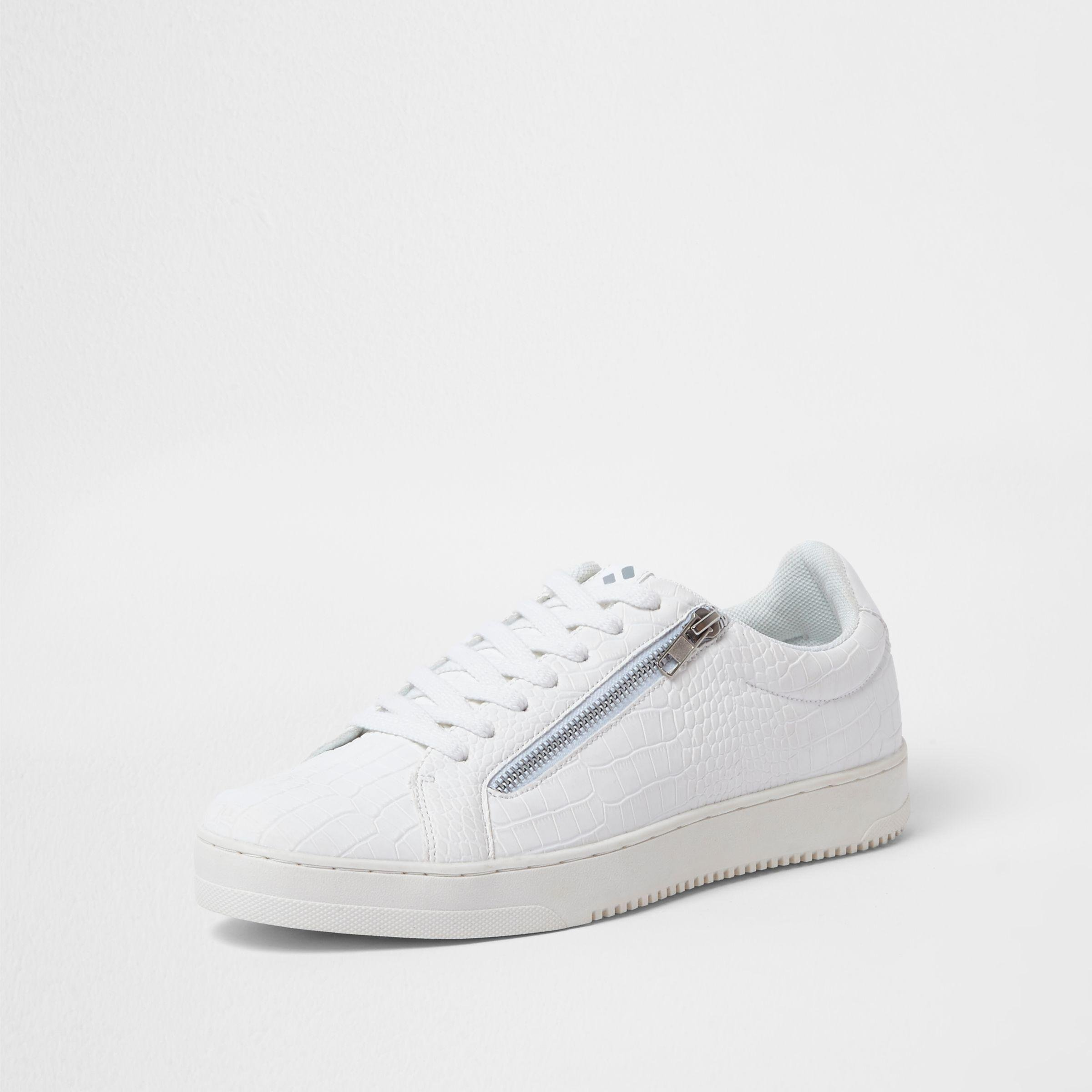 River Island trainers with zip detail in white croc discount amazing price cheap discount authentic 1XkUYLPN1