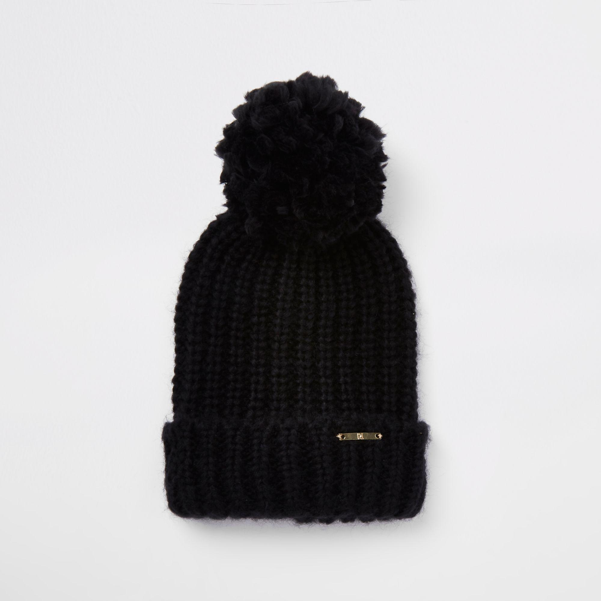 6514410b457 Grey Bobble Hat River Island