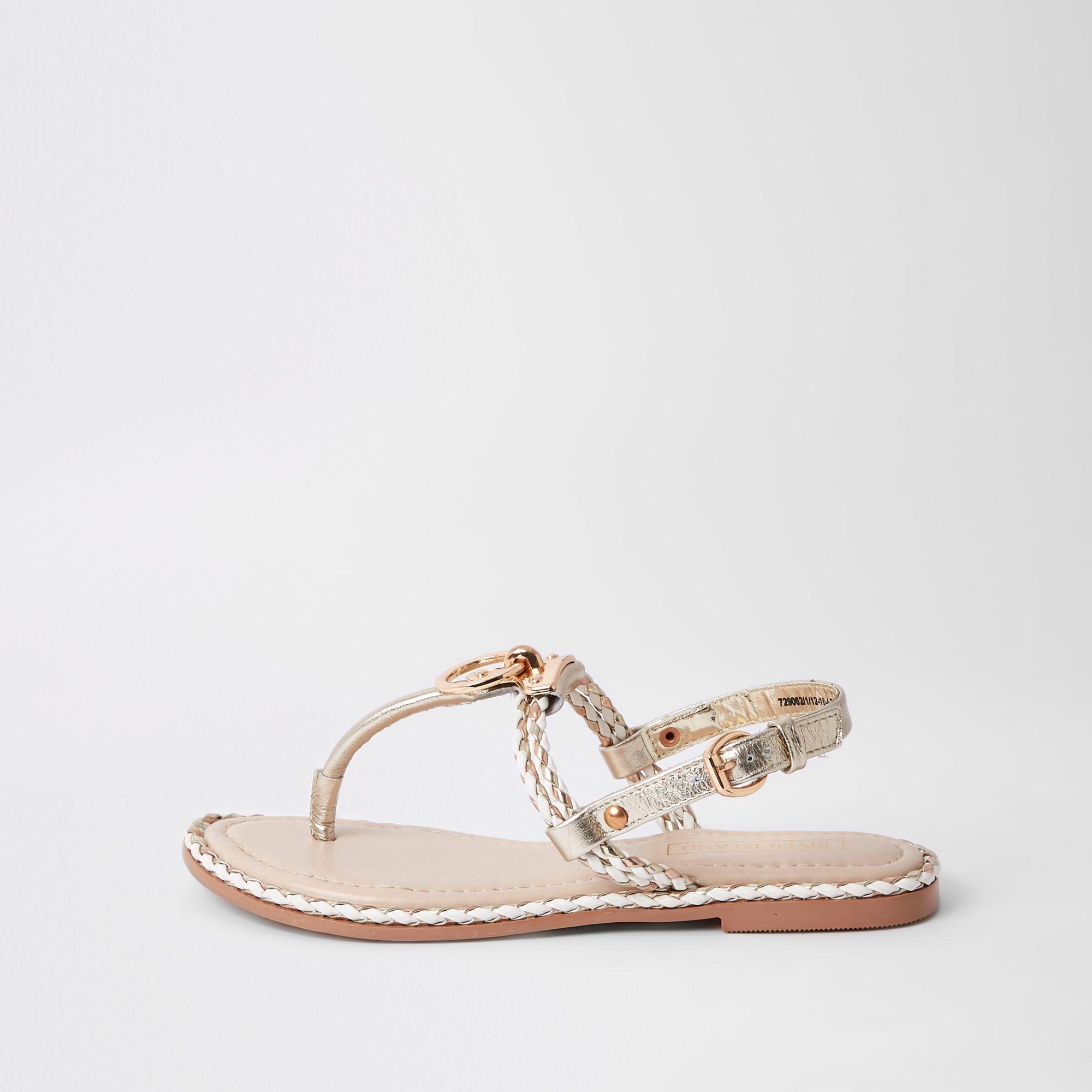 b0cf3ece41d7a Lyst - River Island Light Pink Toe Thong Sandals in Pink