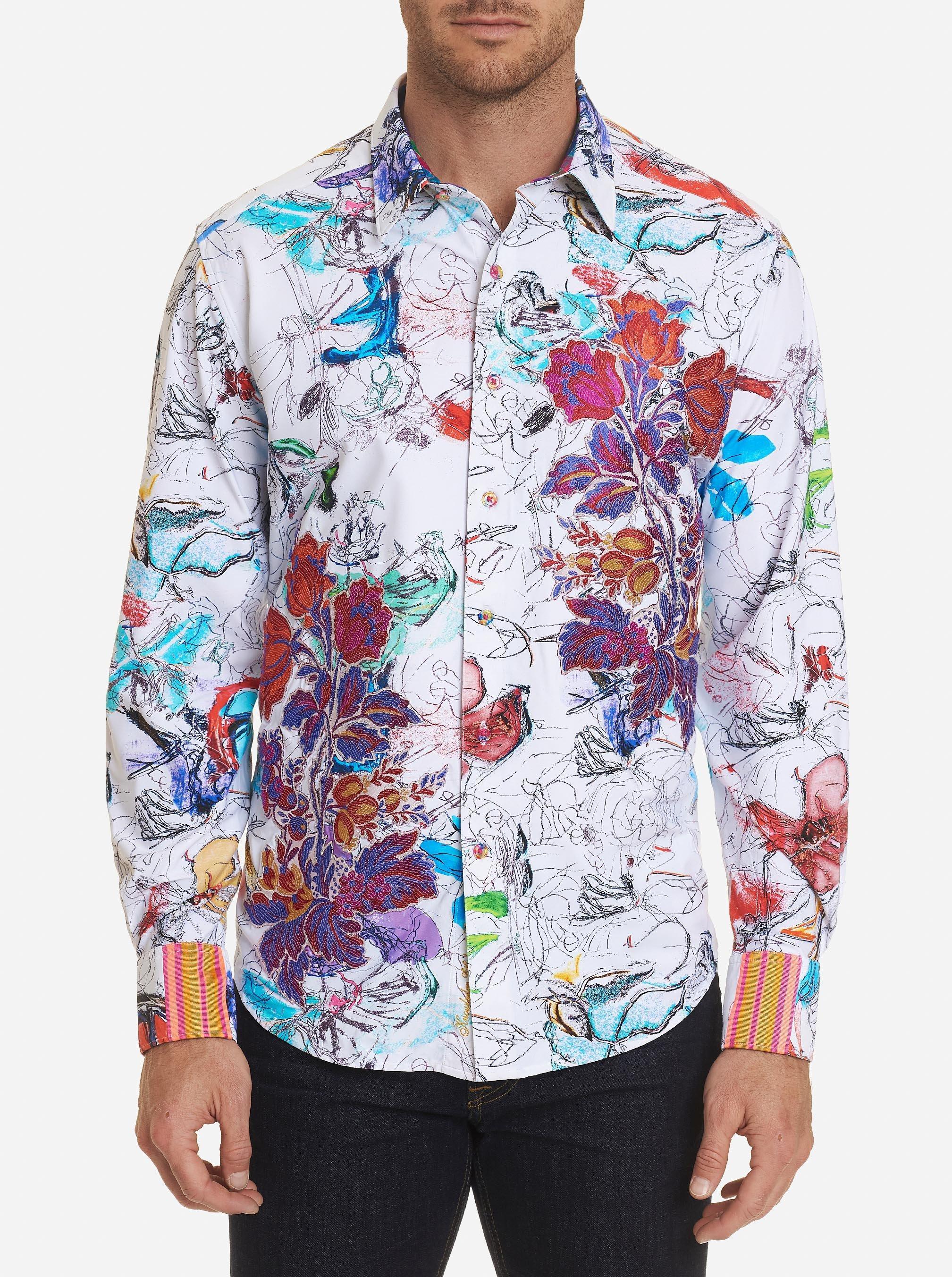 Robert Graham Mens Westward Long Sleeve Classic Fit Shirt