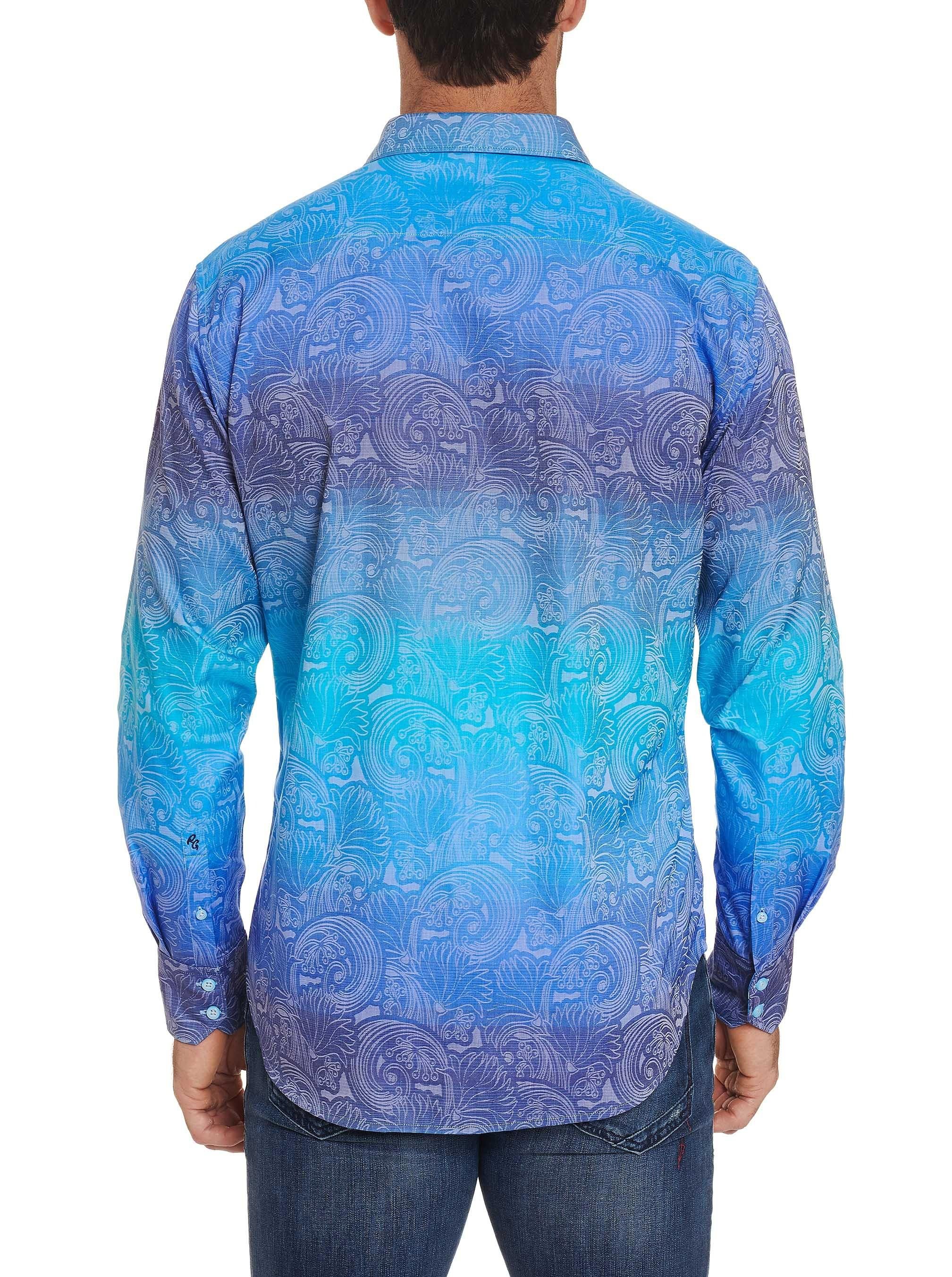 NEW Robert Graham $268 HARDWICKE Ombre Floral Jacquard Classic Fit Sports Shirt