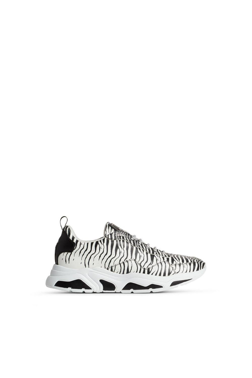 19fd5bc793bb Lyst - Roberto Cavalli Zebra Print Lace Up Sneakers in White for Men