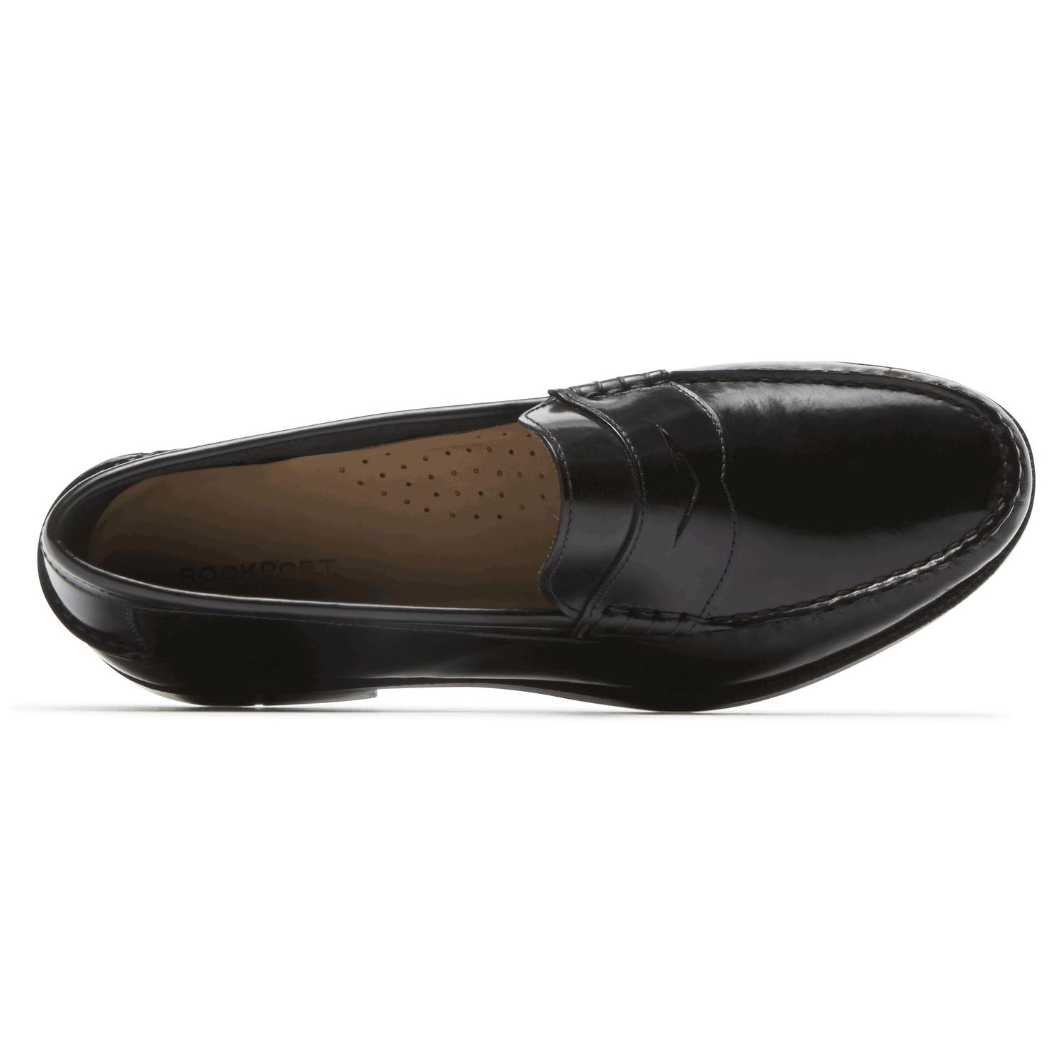 Rockport Leather Everyday Business Penny Loafer in Black ...