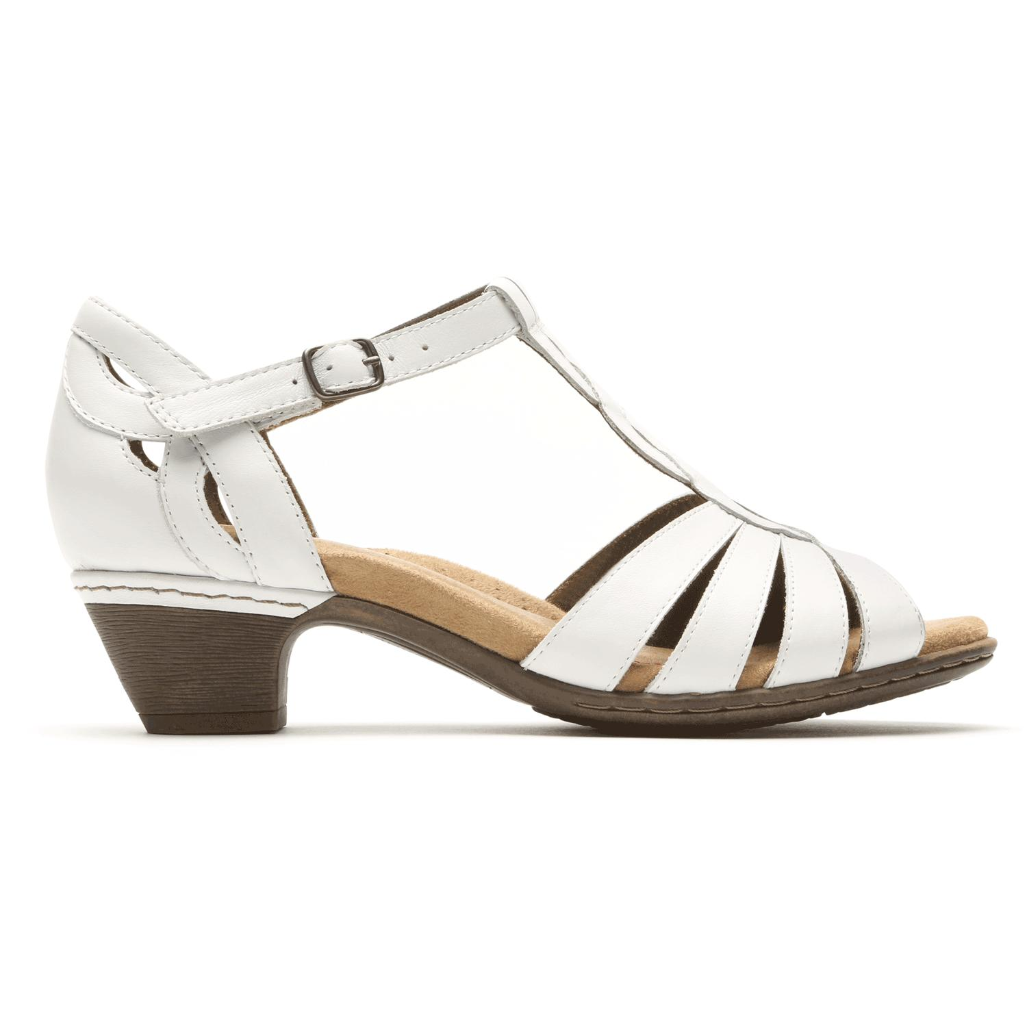 6e18dcb2697db Rockport Cobb Hill Abbott Curvy Strap Sandal in White - Lyst