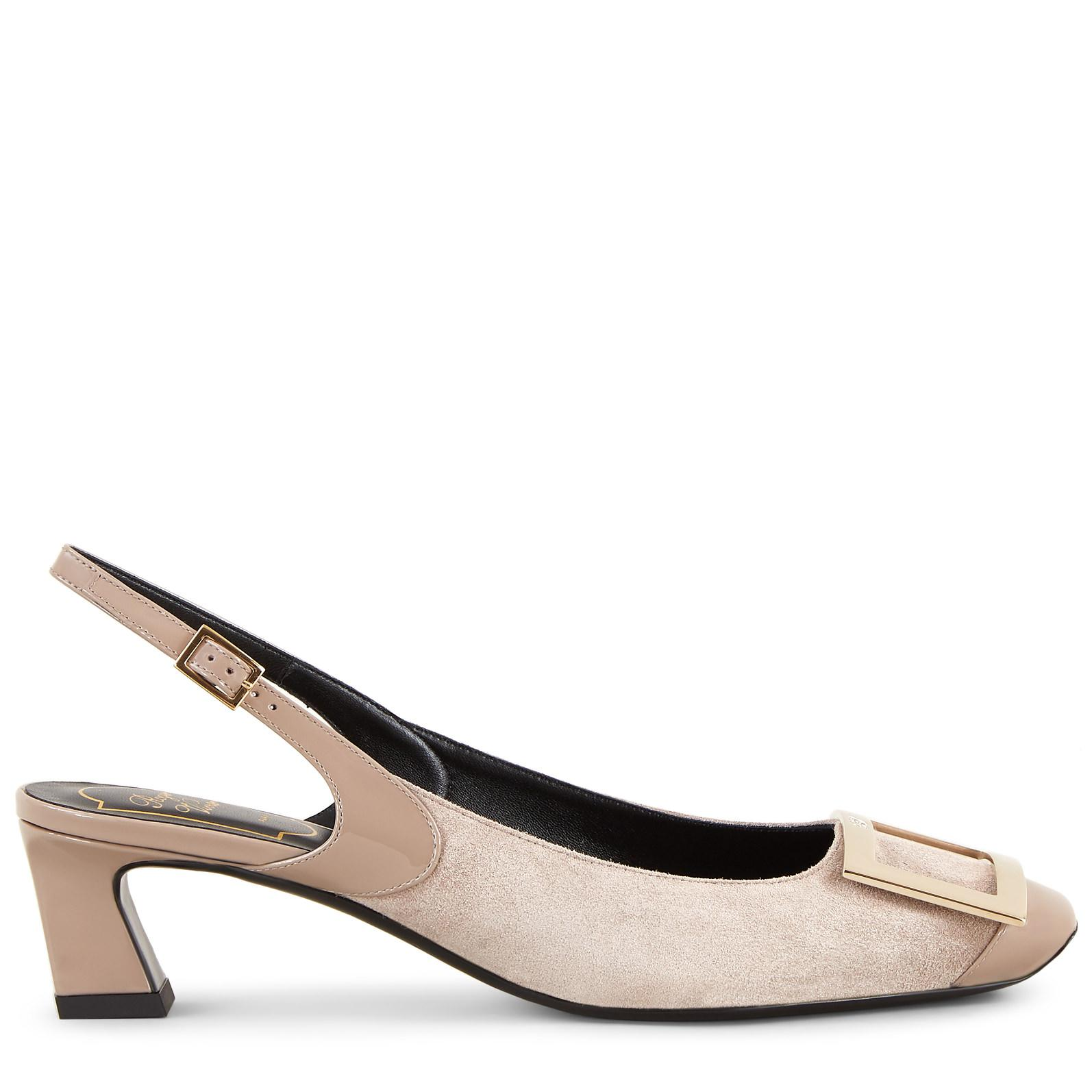 91fd002b37a1 Roger Vivier. Women s Gray Sling Back Trompette Cut Court Shoes