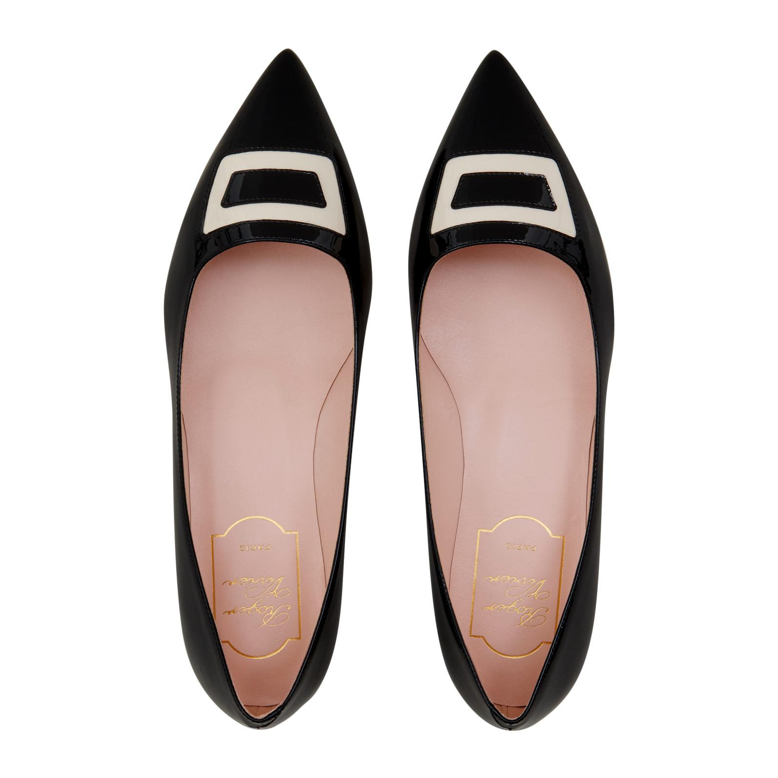 c66658b80 Roger Vivier Black Pointy Ballerina In Patent-leather