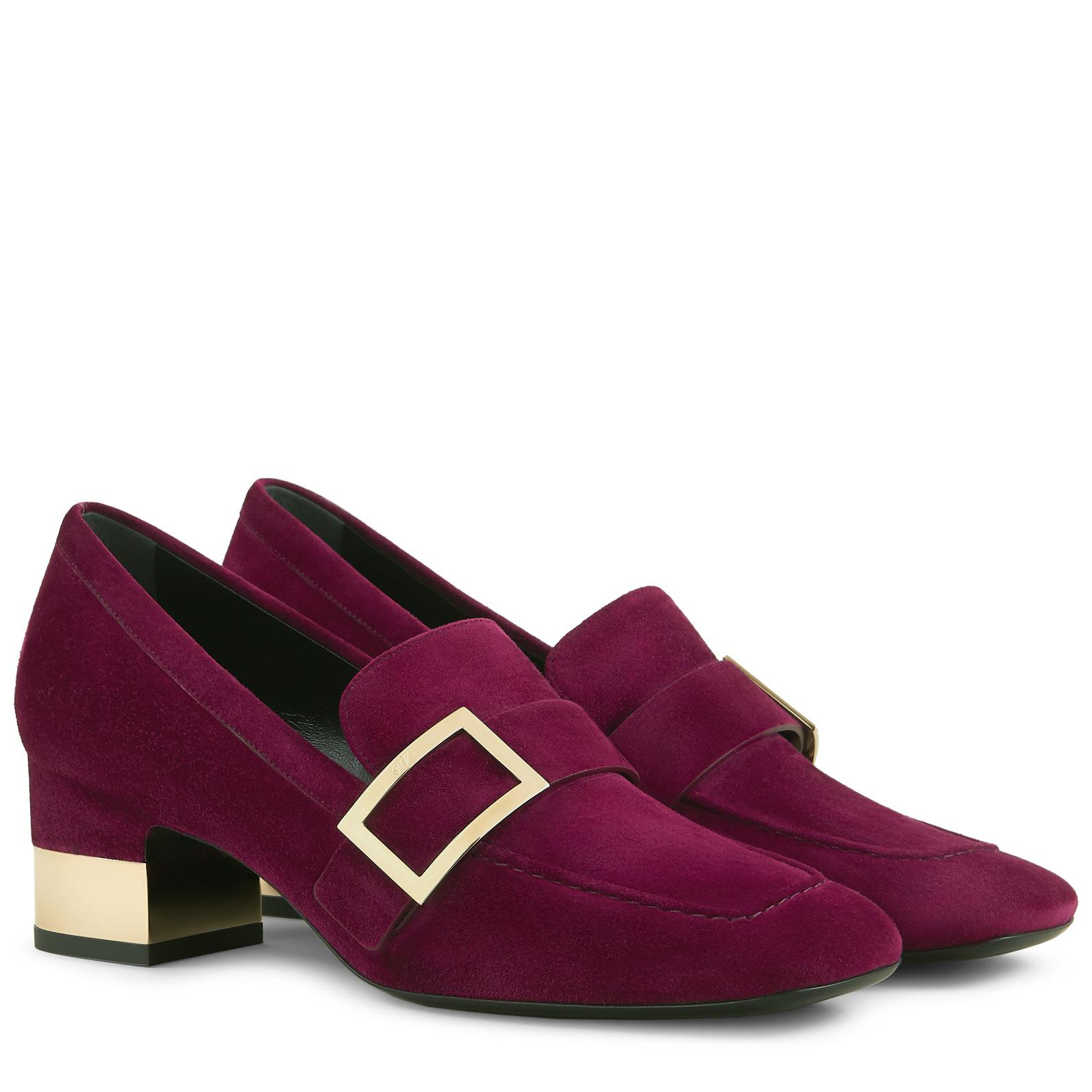 eb230a491f9 Roger Vivier - Purple Podium Metal Buckle Loafers - Lyst. View fullscreen