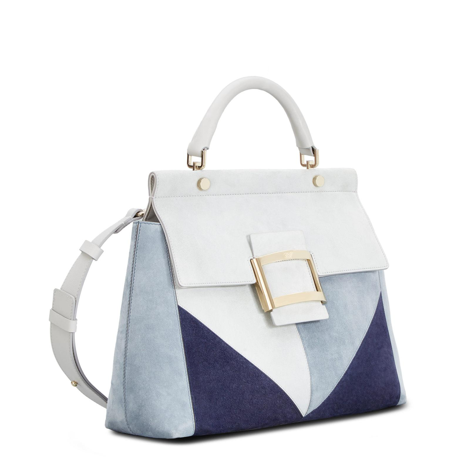 a14afd96ee Lyst - Roger Vivier Viv  Cabas Patchwork Graphic Small in Blue