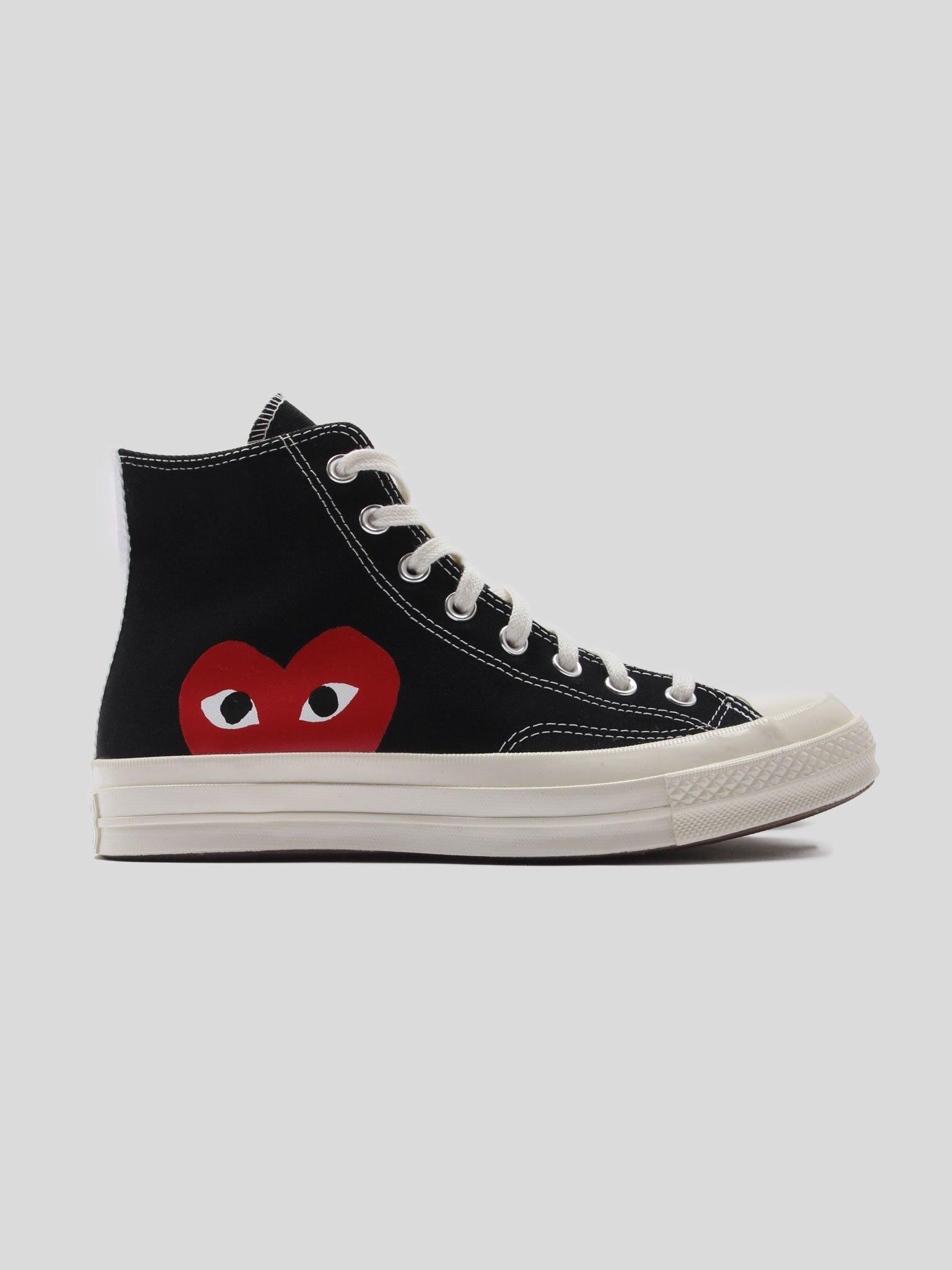 Modernización Feudal para justificar  COMME DES GARÇONS PLAY Black Converse Edition Half Heart Chuck 70 High  Sneakers - Save 19% - Lyst