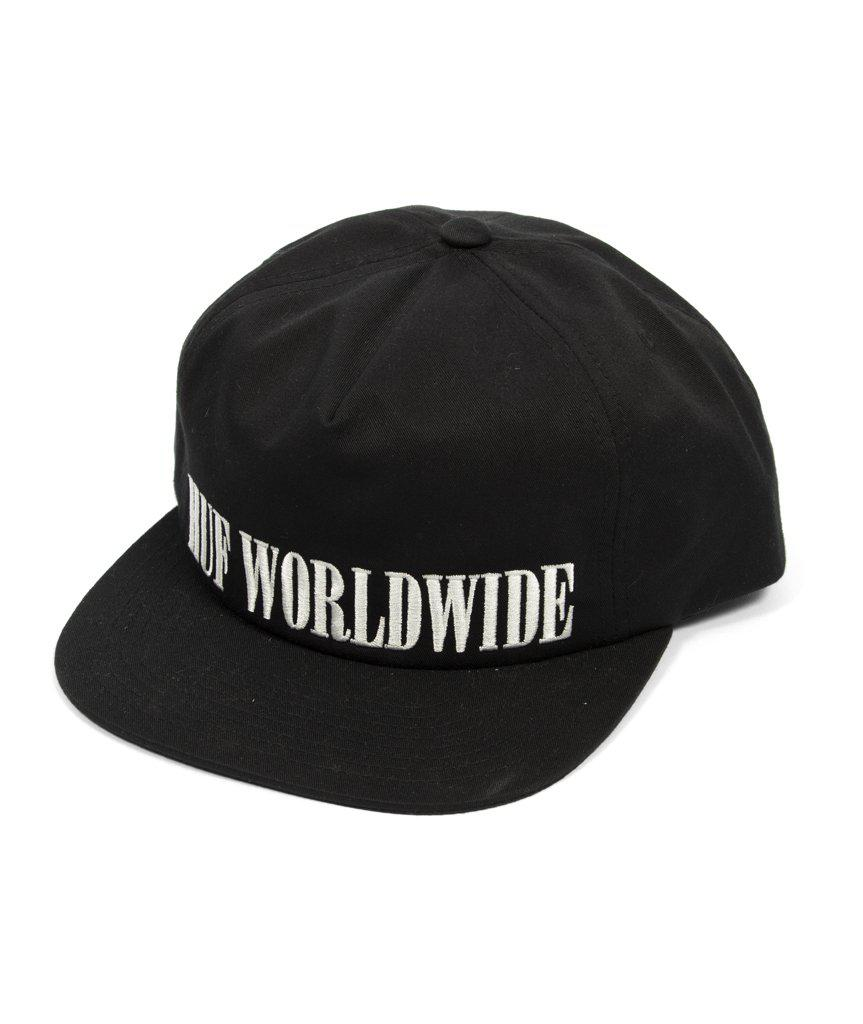 fbfc1cc89ca Huf Serif Snapback Cap With Embroidered Logo In Black in Black for ...