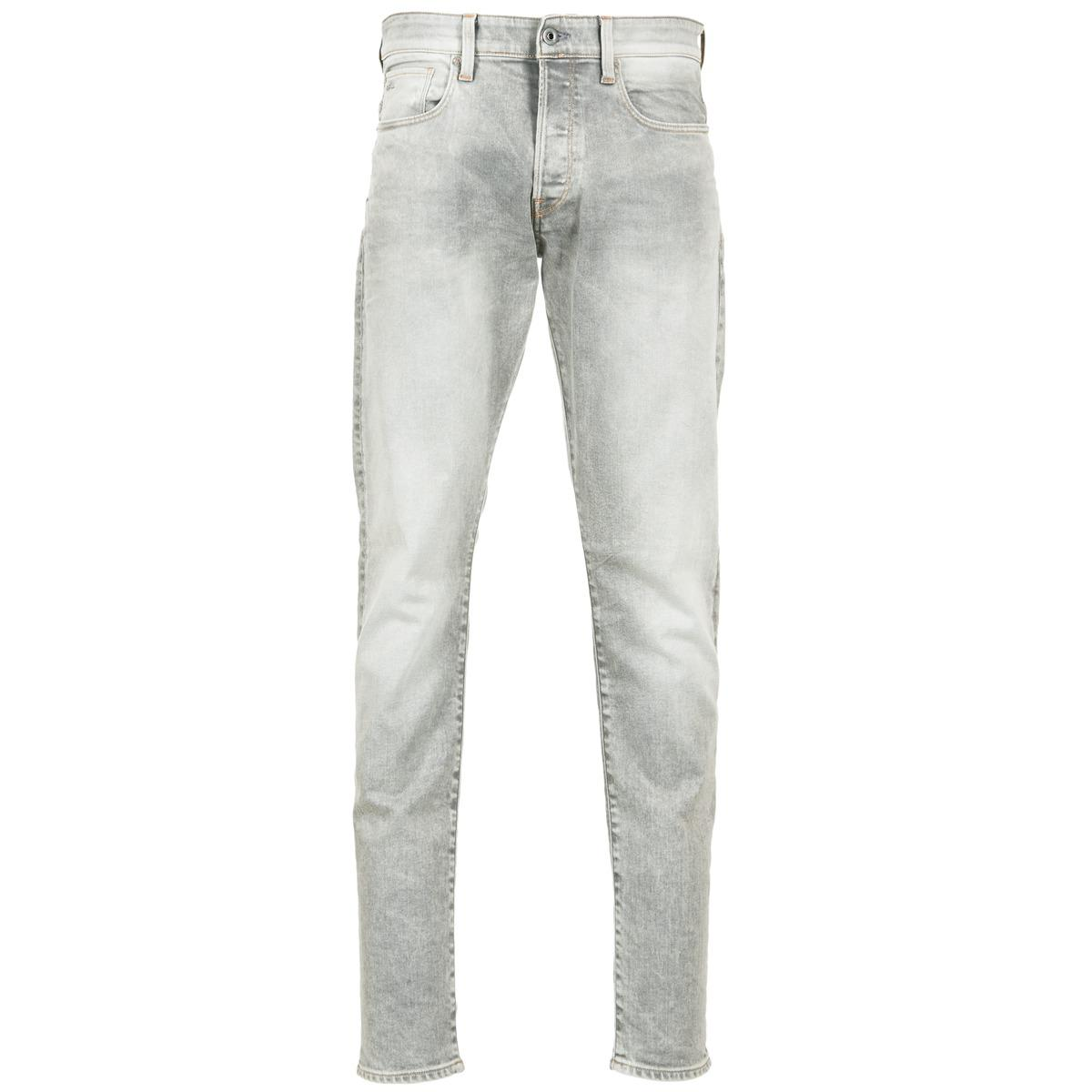 9c87cde4 G-Star RAW 3301 Tapered Men's Jeans In Grey in Gray for Men - Lyst