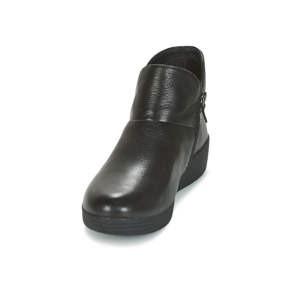 Fitflop Supermod Leather Ankle Boot Ii Mid Boots in Black - Save 21%