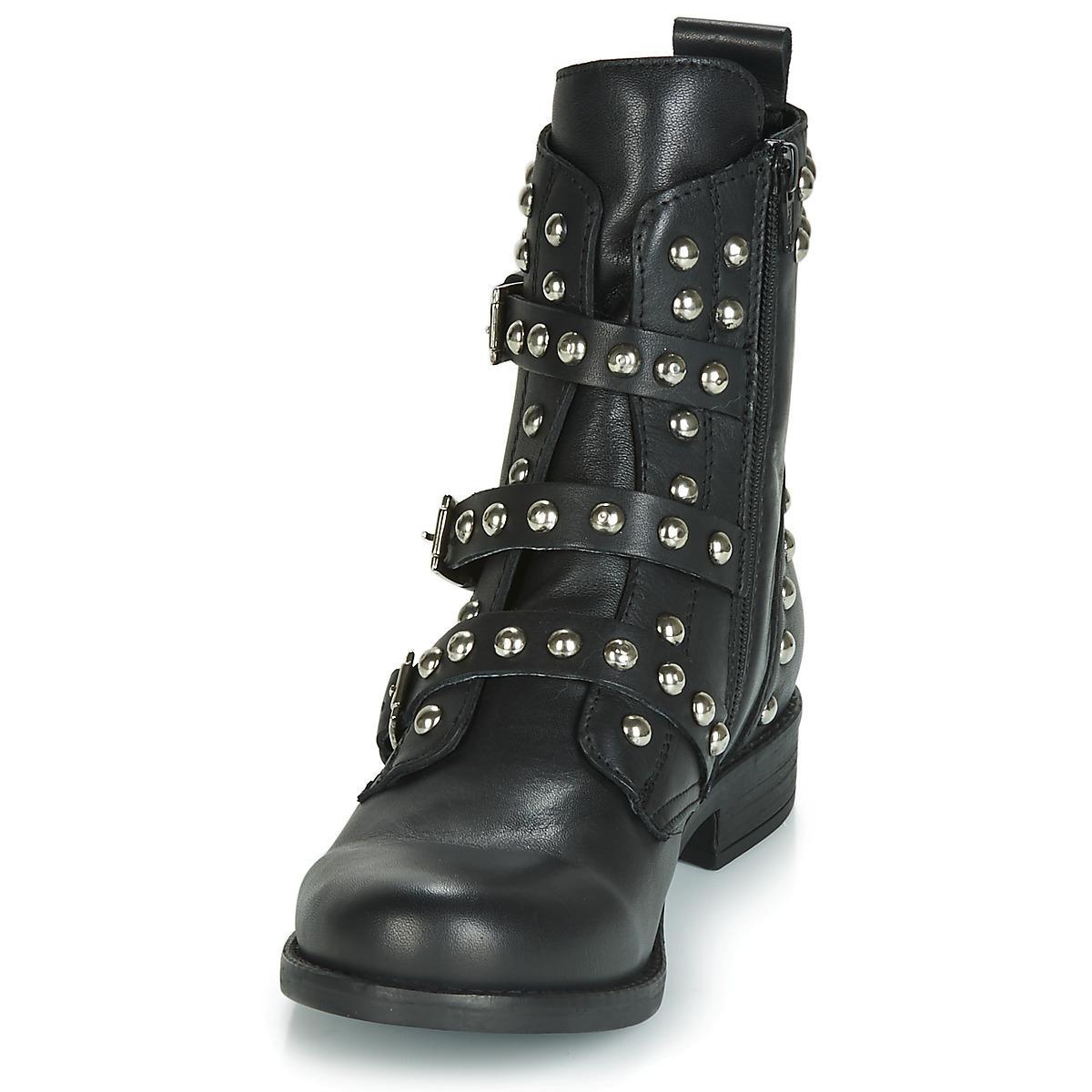 30ca085fad9 Steve Madden - Black Spunky Low Ankle Boots - Lyst. View fullscreen