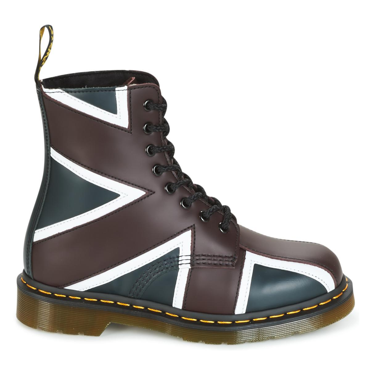 e068fd216f Dr. Martens Union Jack Pascal 8-eye Boot (navy Smooth/oxblood Smooth ...