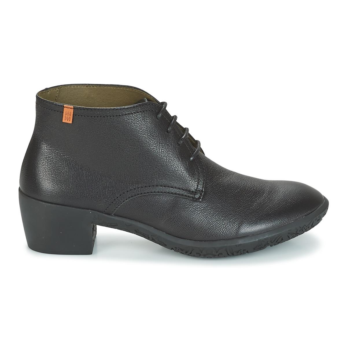 El Naturalista Alhambra Low Ankle Boots in Black