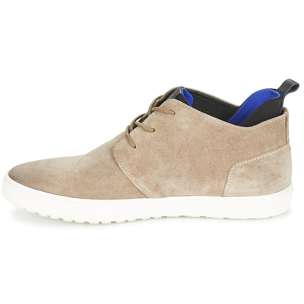 Replay Leather Hydro Shoes (high-top Trainers) in Beige (Natural) for Men