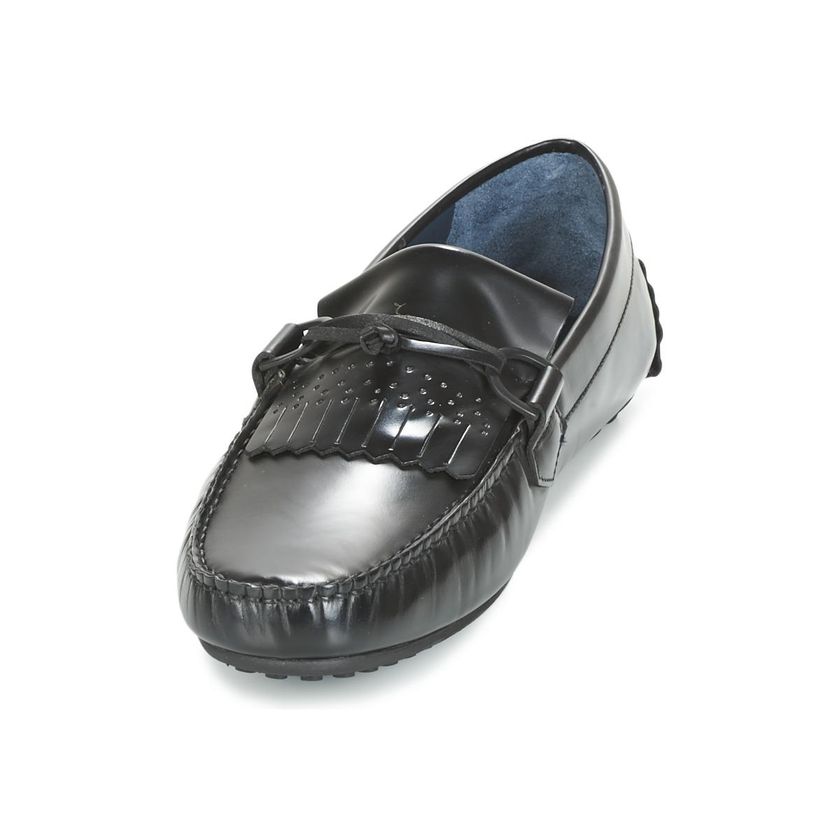 Paul & Joe Leather Moc Loafers / Casual Shoes in Black for Men