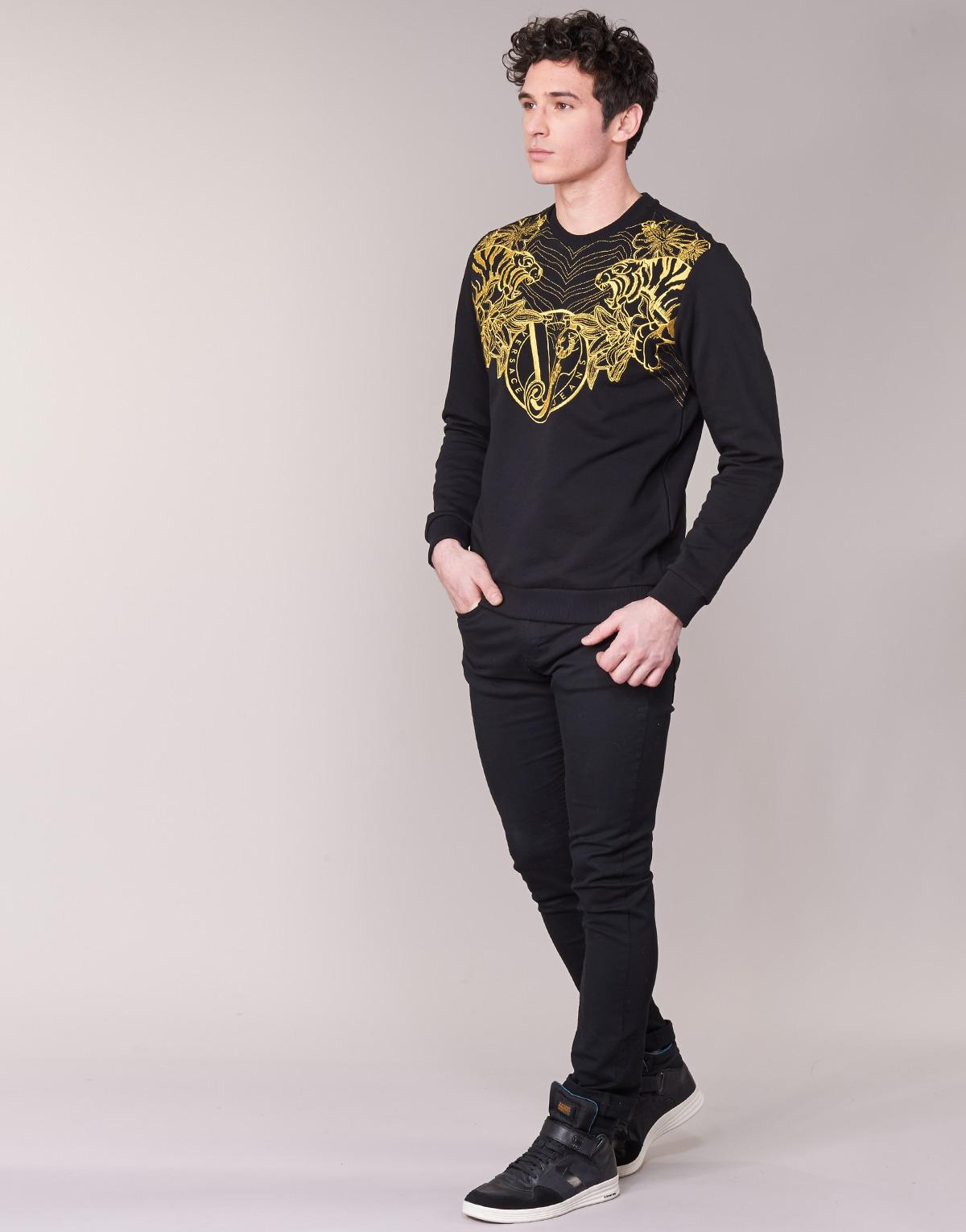 Versace Jeans Couture Cotton B7gpb7f0 Sweatshirt in Black for Men