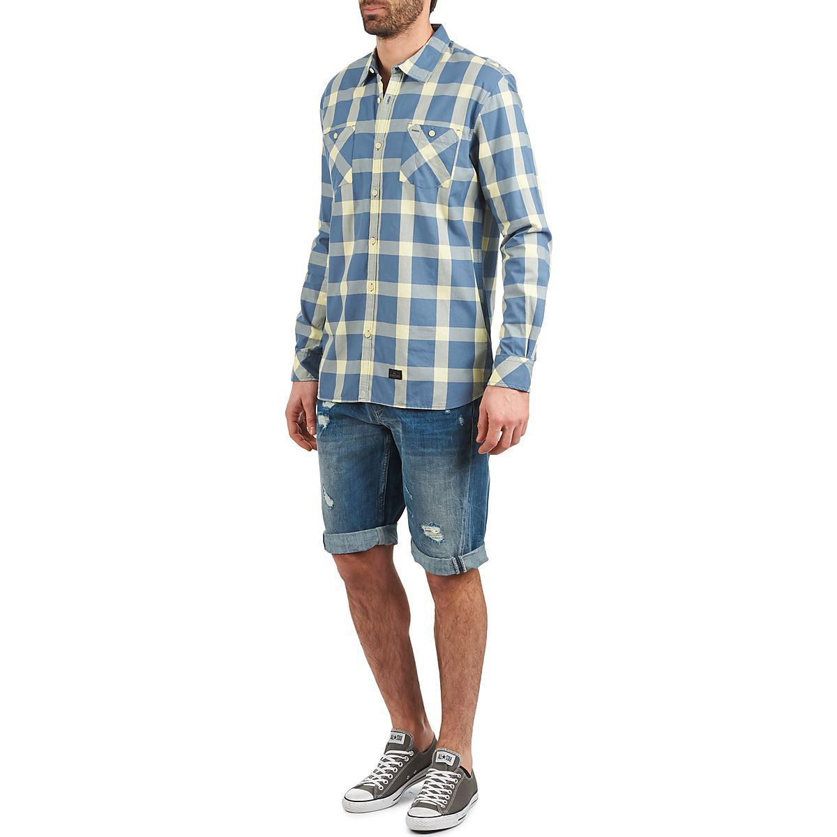 Quiksilver Denim Ramos Long Sleeved Shirt in Blue for Men
