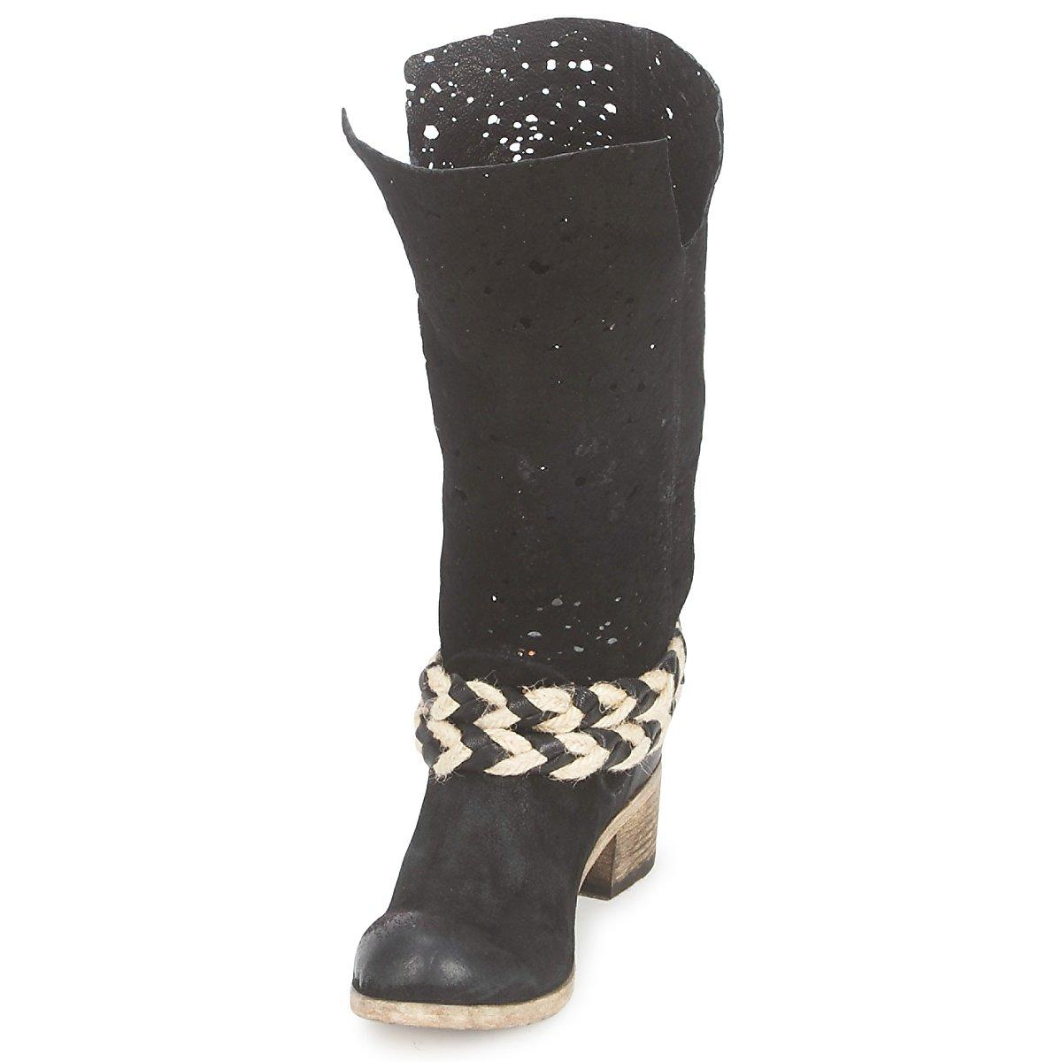 Catarina Martins Leather Nevac Women's High Boots In Black - Save 11%