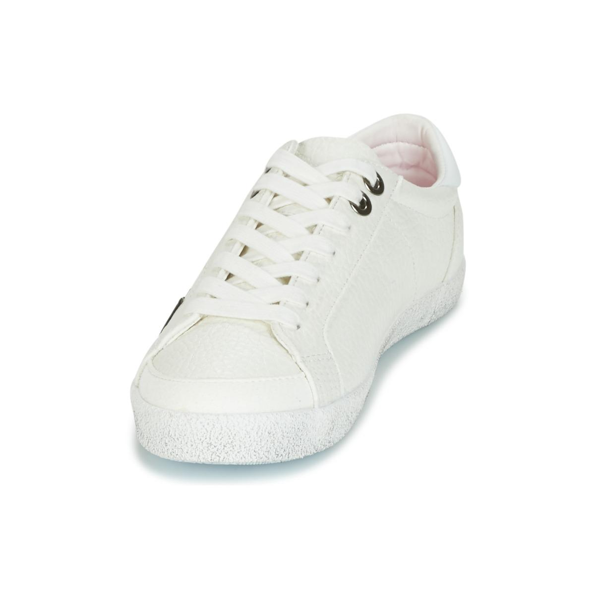 Superdry Super Sleek Logo Lo Women's Shoes (trainers) In White
