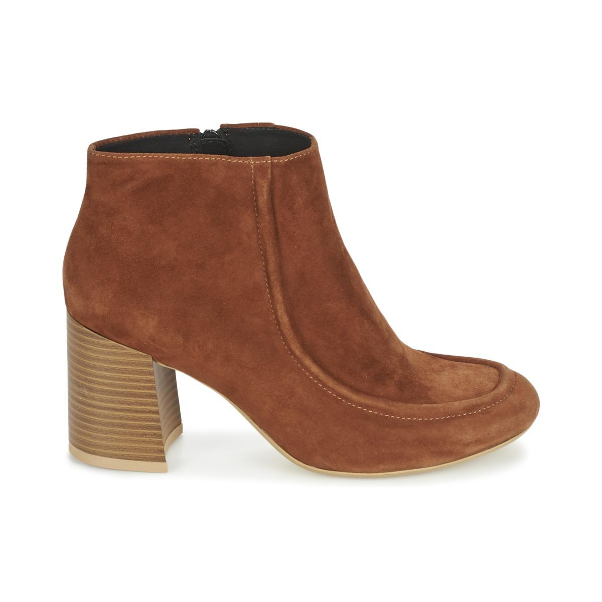 Vagabond Rubber Kaley Low Ankle Boots in Brown