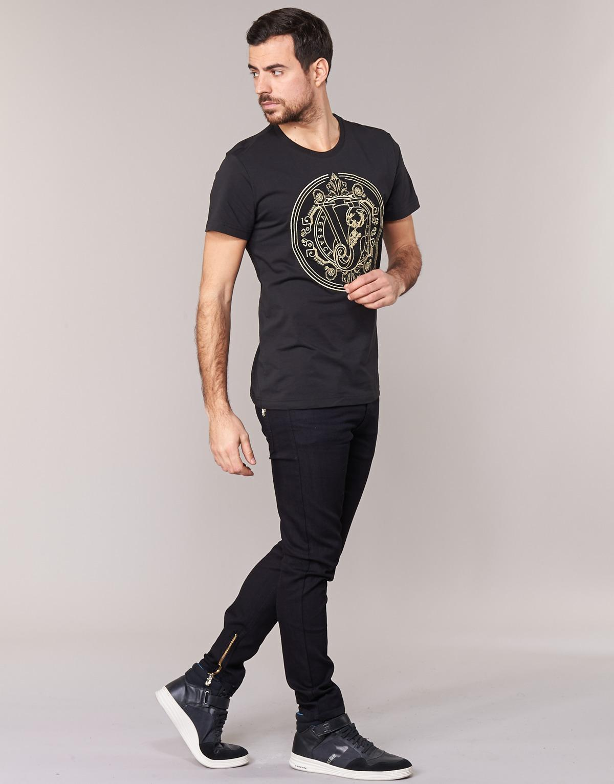 Versace Jeans Couture Denim A2gpa007 Skinny Jeans in Black for Men - Save 17%