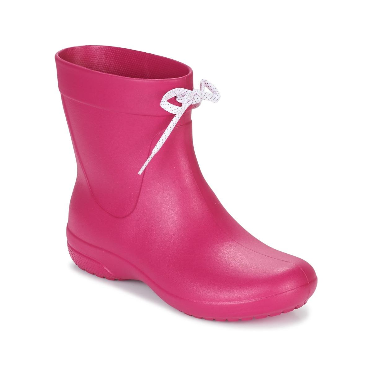 Crocs�?Synthetic Freesail Shorty Boots Women's Wellington Boots In Pink