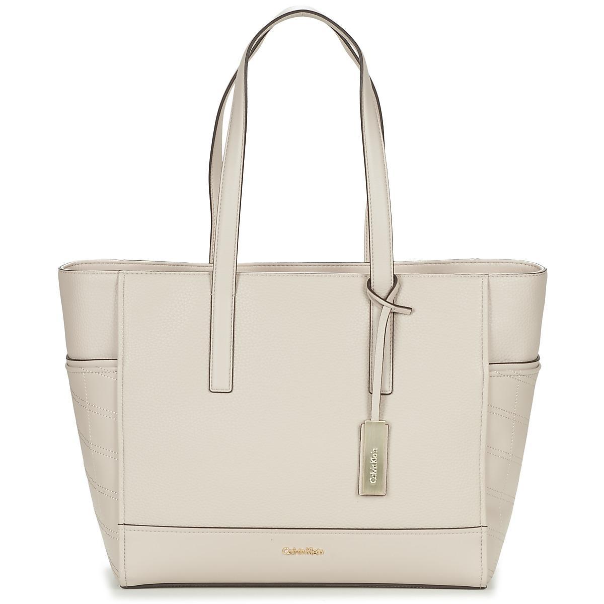 Natural Shopper Bag Calvin Marina Klein Large Tote JcTlF35u1K