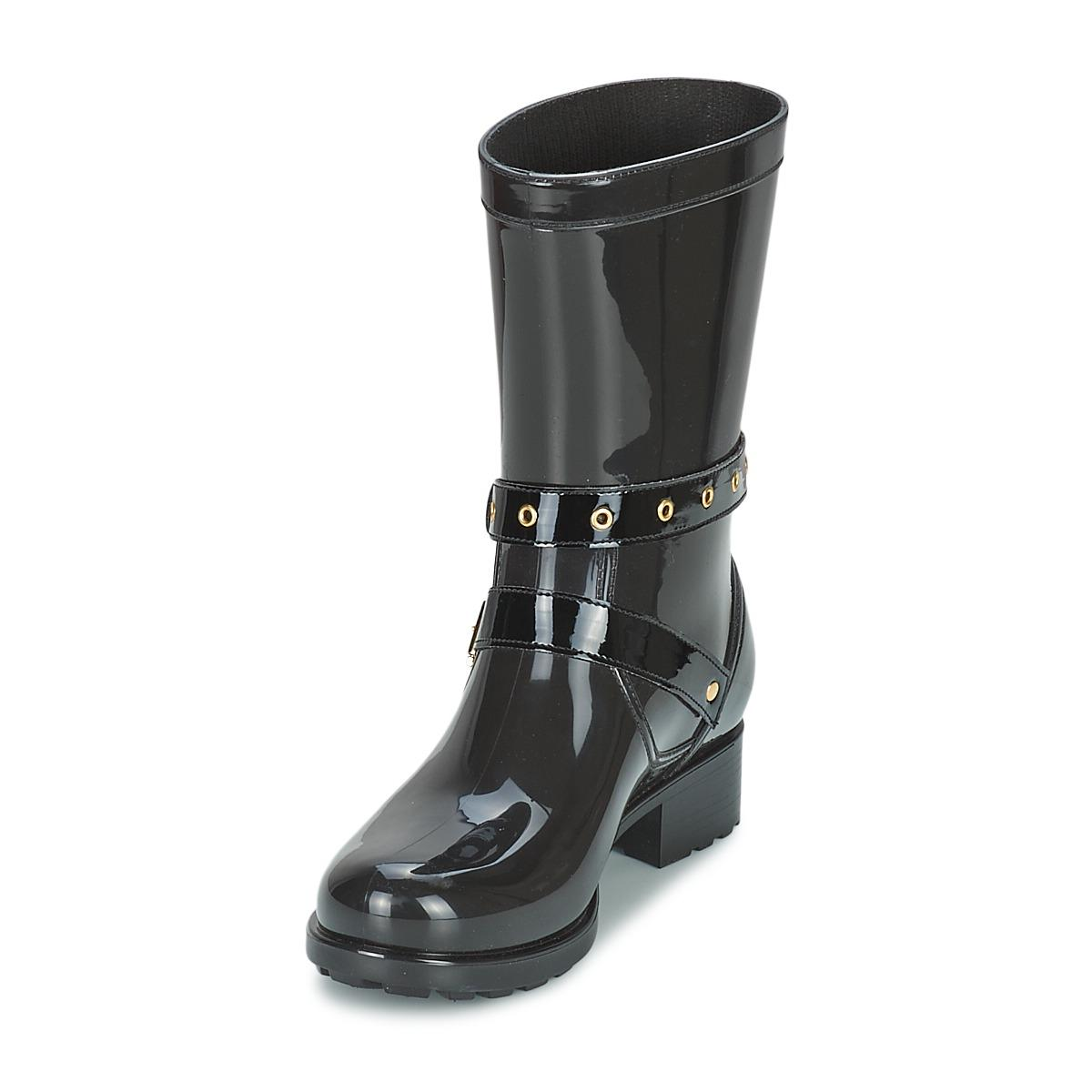 Lemon Jelly Synthetic Ella Wellington Boots in Black