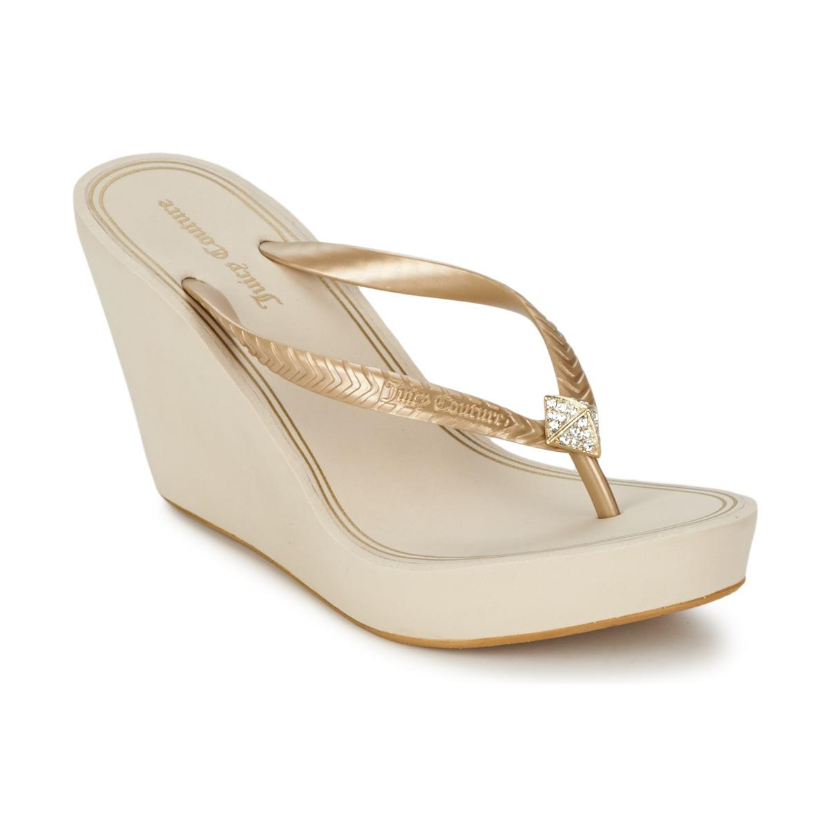 5a64b80ed693 Juicy Couture - White Brit Flip Flops   Sandals (shoes) - Lyst. View  fullscreen