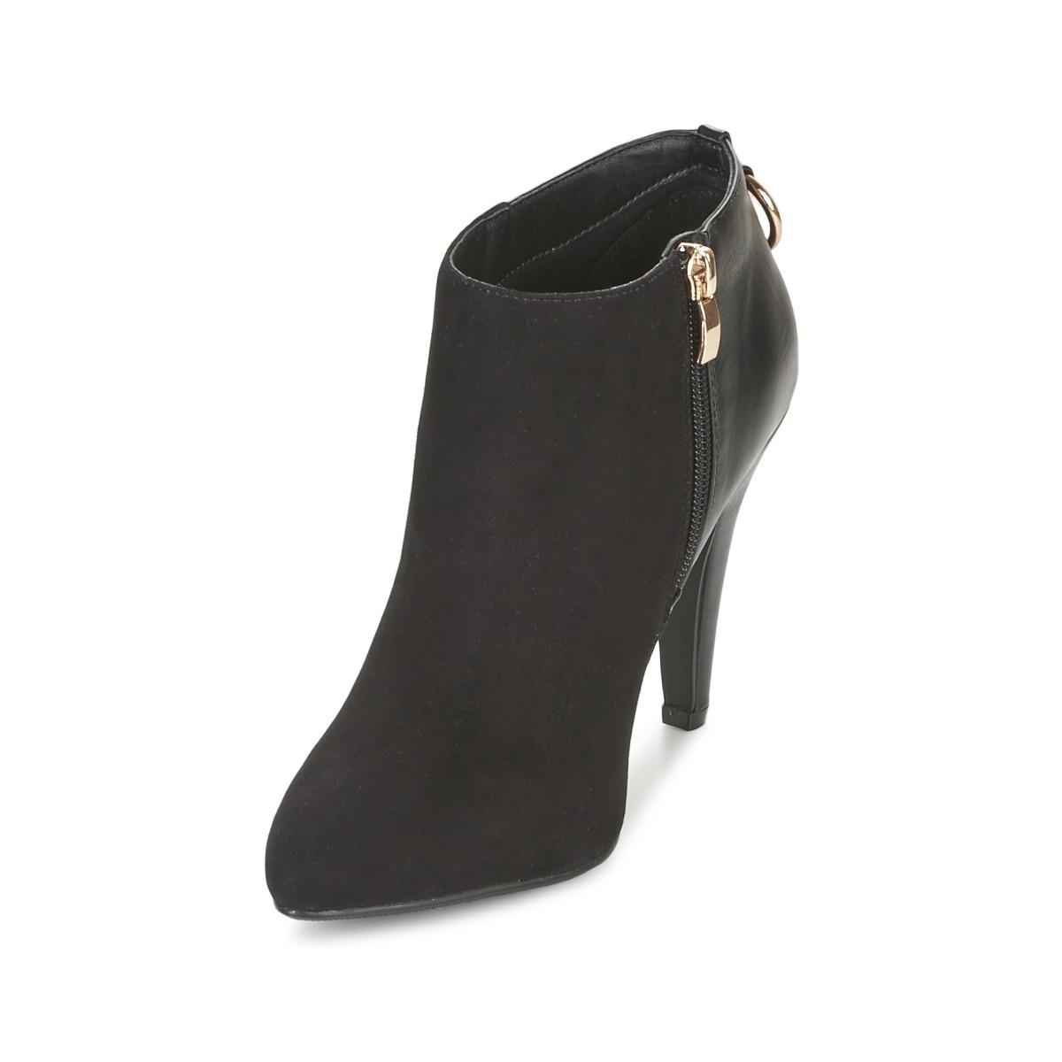 Moony Mood Emrine Women's Low Ankle Boots In Black