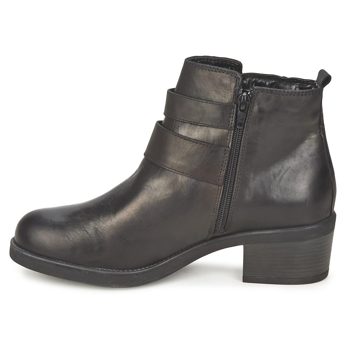 Carvela Kurt Geiger Leather Sputnik Mid Boots in Black
