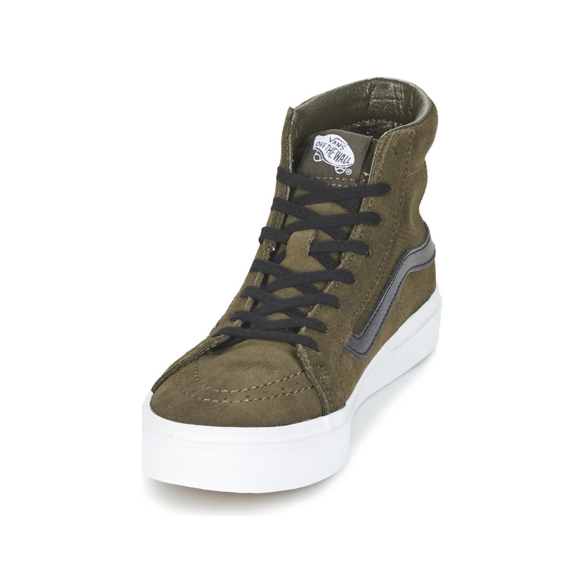 4c33aba3dd Vans Sk8-hi Slim Cutout Shoes (high-top Trainers) in Green - Lyst