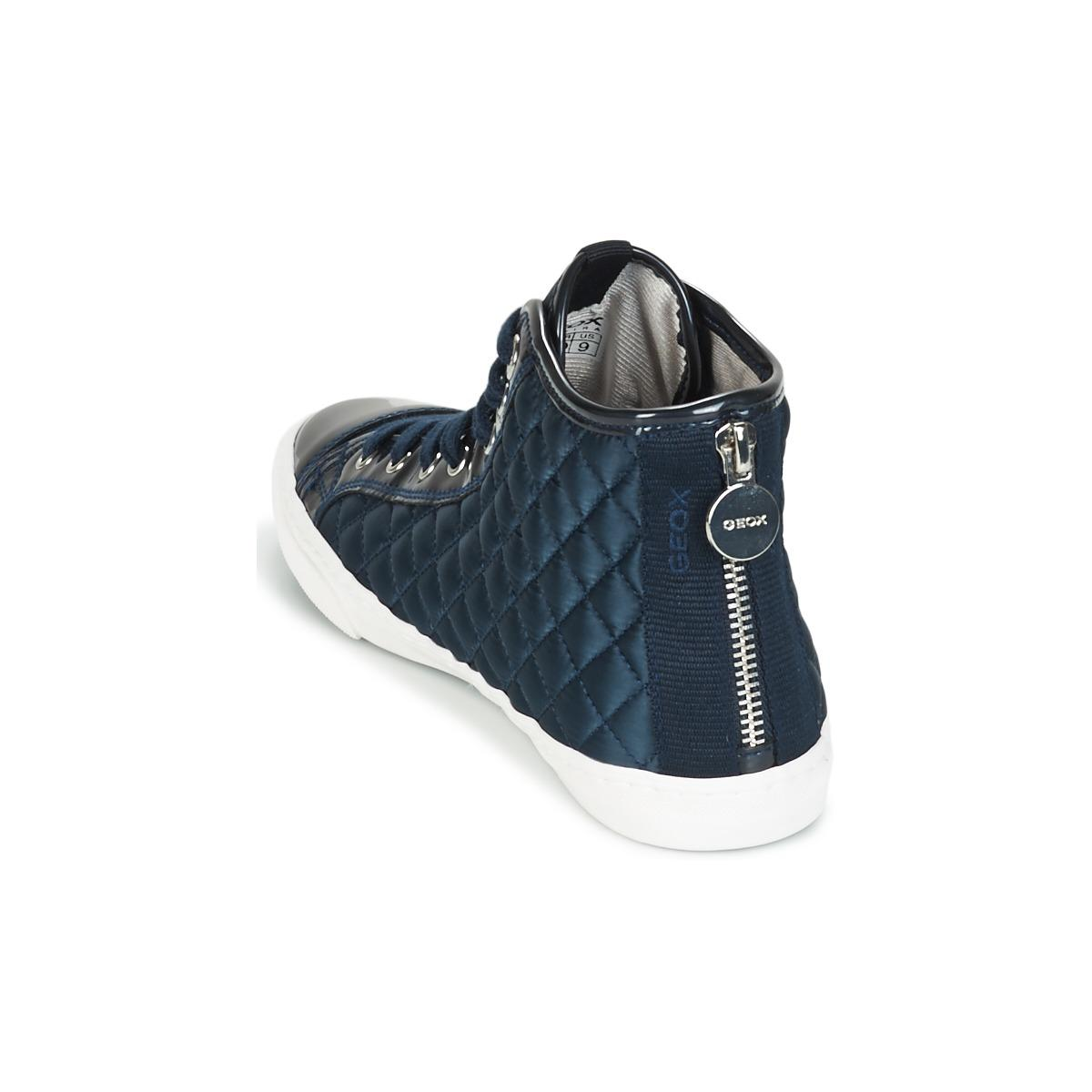 Geox Leather N.club A Shoes (high-top Trainers) in Blue