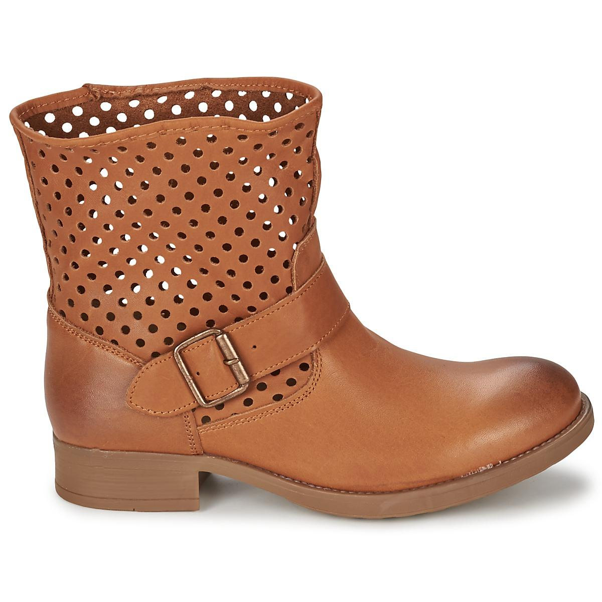 Casual Attitude Synthetic Brouli Mid Boots in Brown