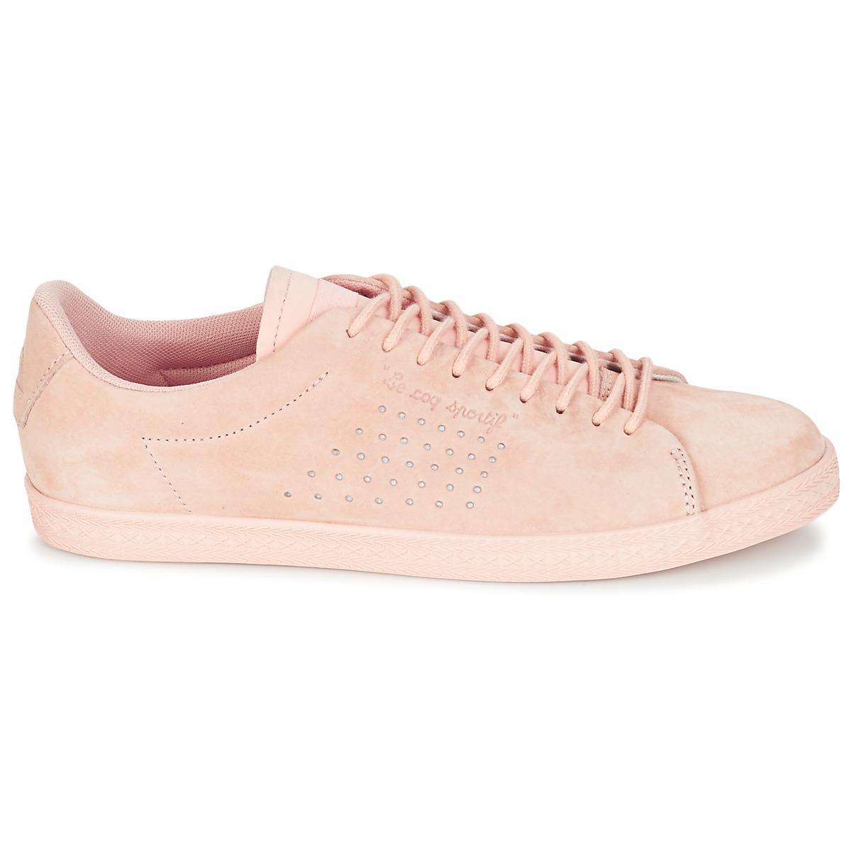 0d9fd4704a1a Le Coq Sportif - Pink Nubuck Charline Sneakers - Lyst. View fullscreen